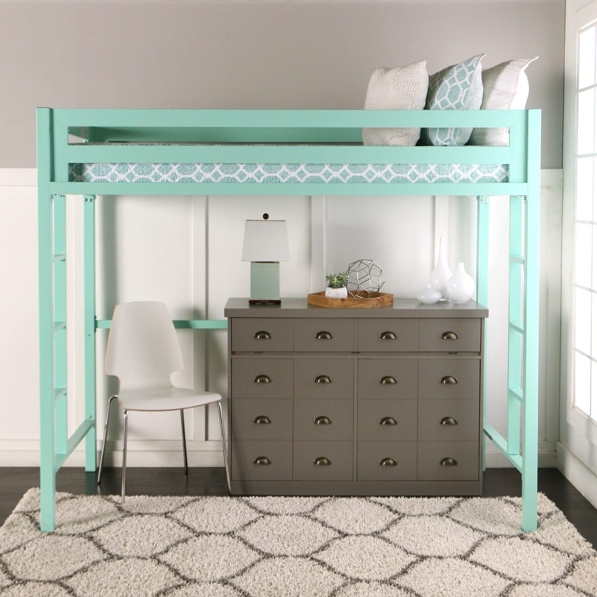 Bentley Twin Loft Bed Mint By Walker Edison