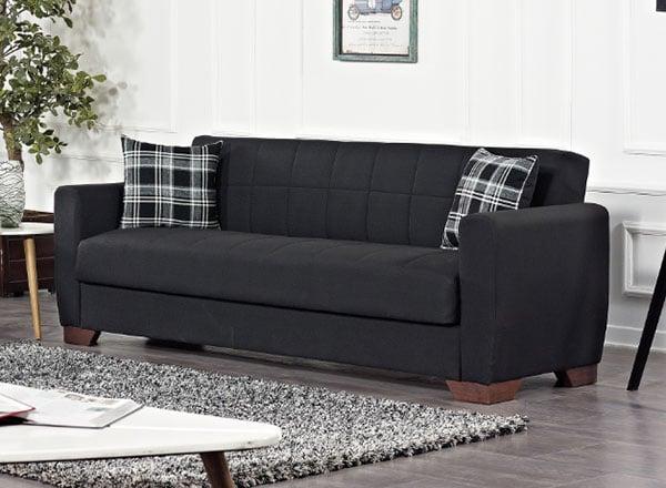 Barato Black Convertible Sofa by Casamode