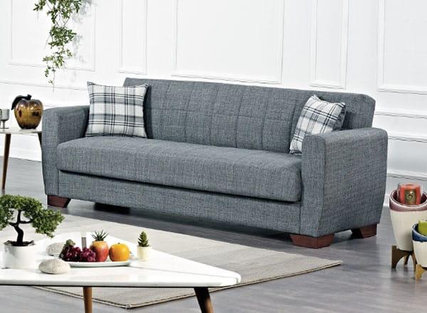 Barato Gray Convertible Sofa By Casamode