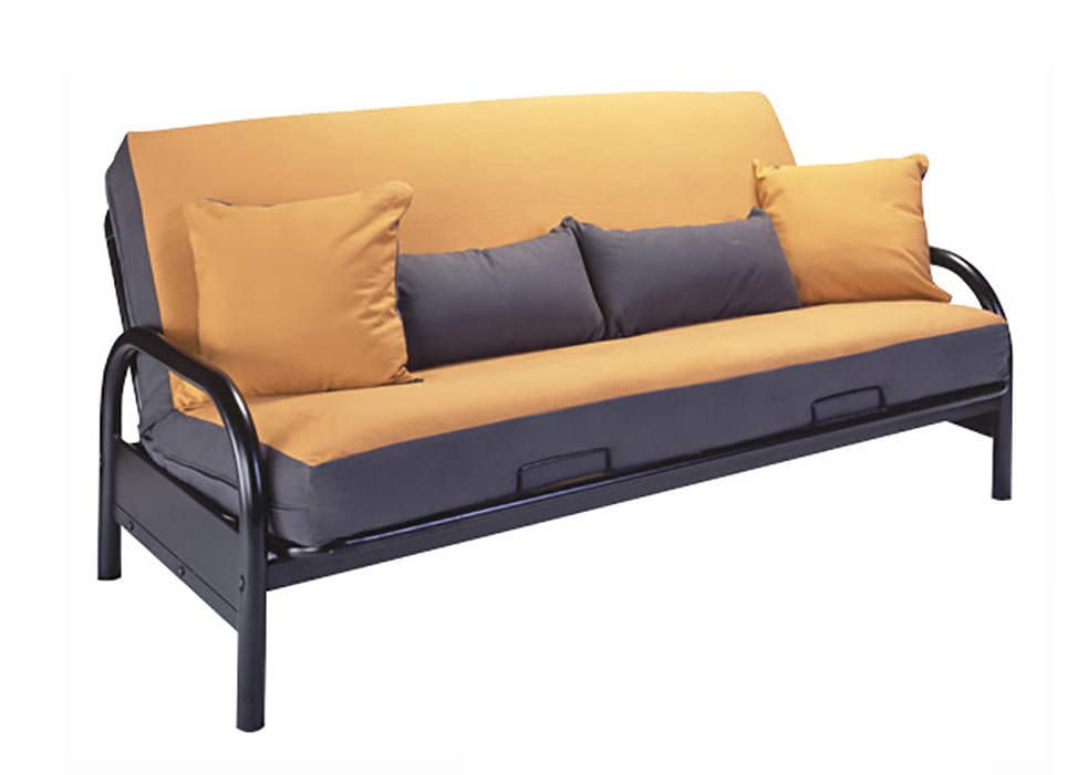 Basic Black Metal Futon Frame Full Size 29 Inch Arms