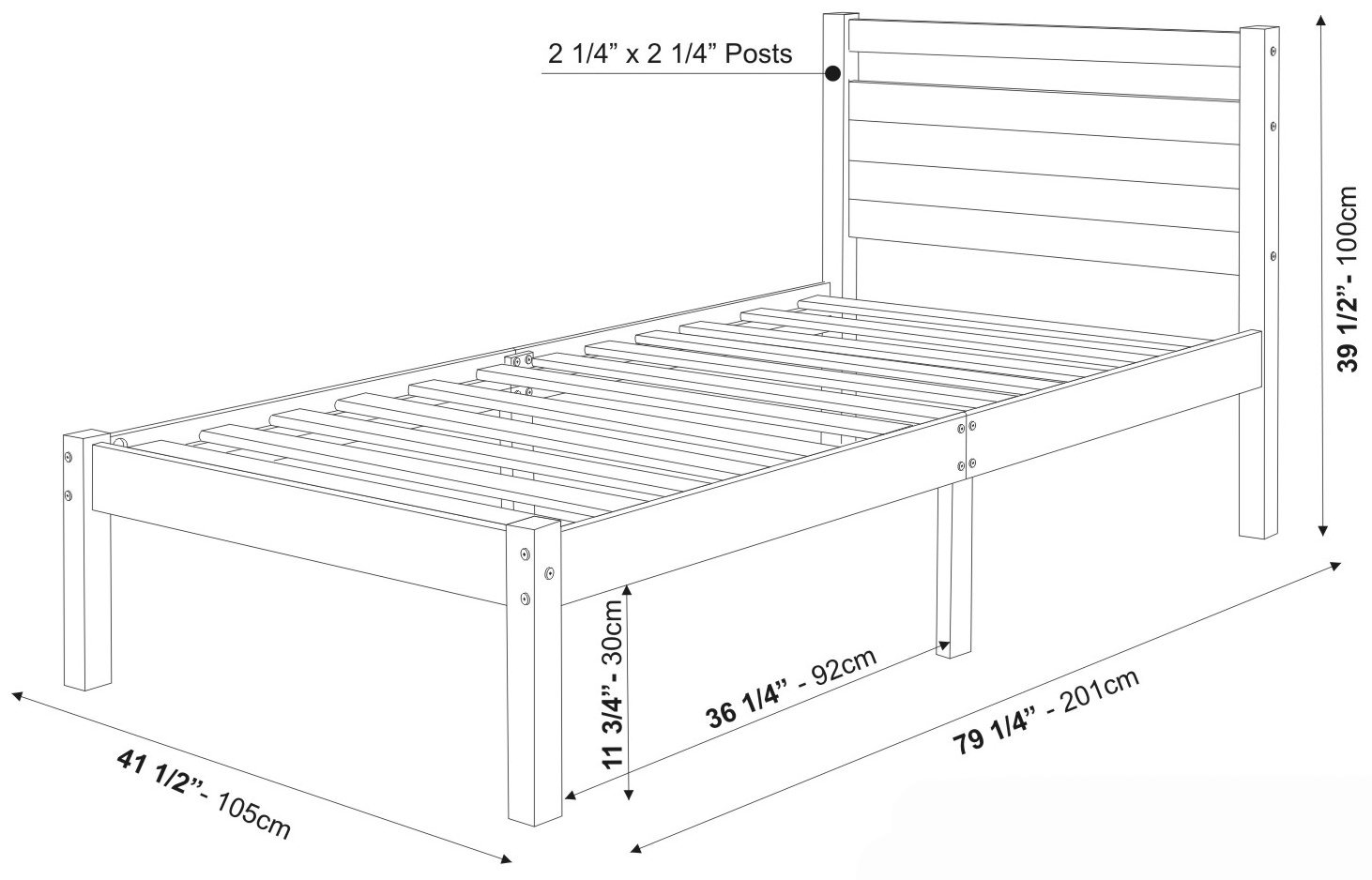 Bronx bed by palace imports Bed sizes