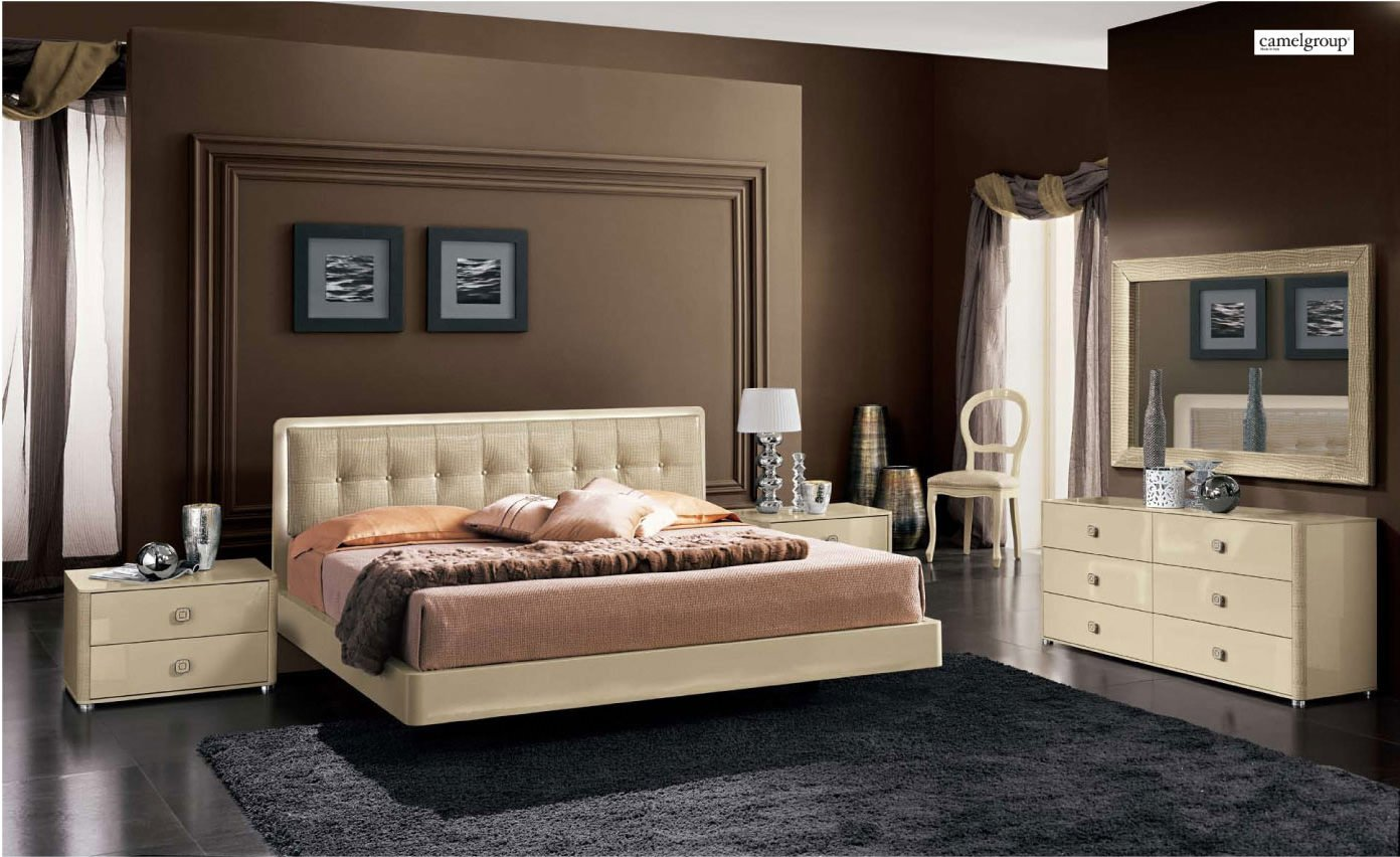 La star ivory composition 3 with plano bed camel bedroom - Contemporary king bedroom furniture ...