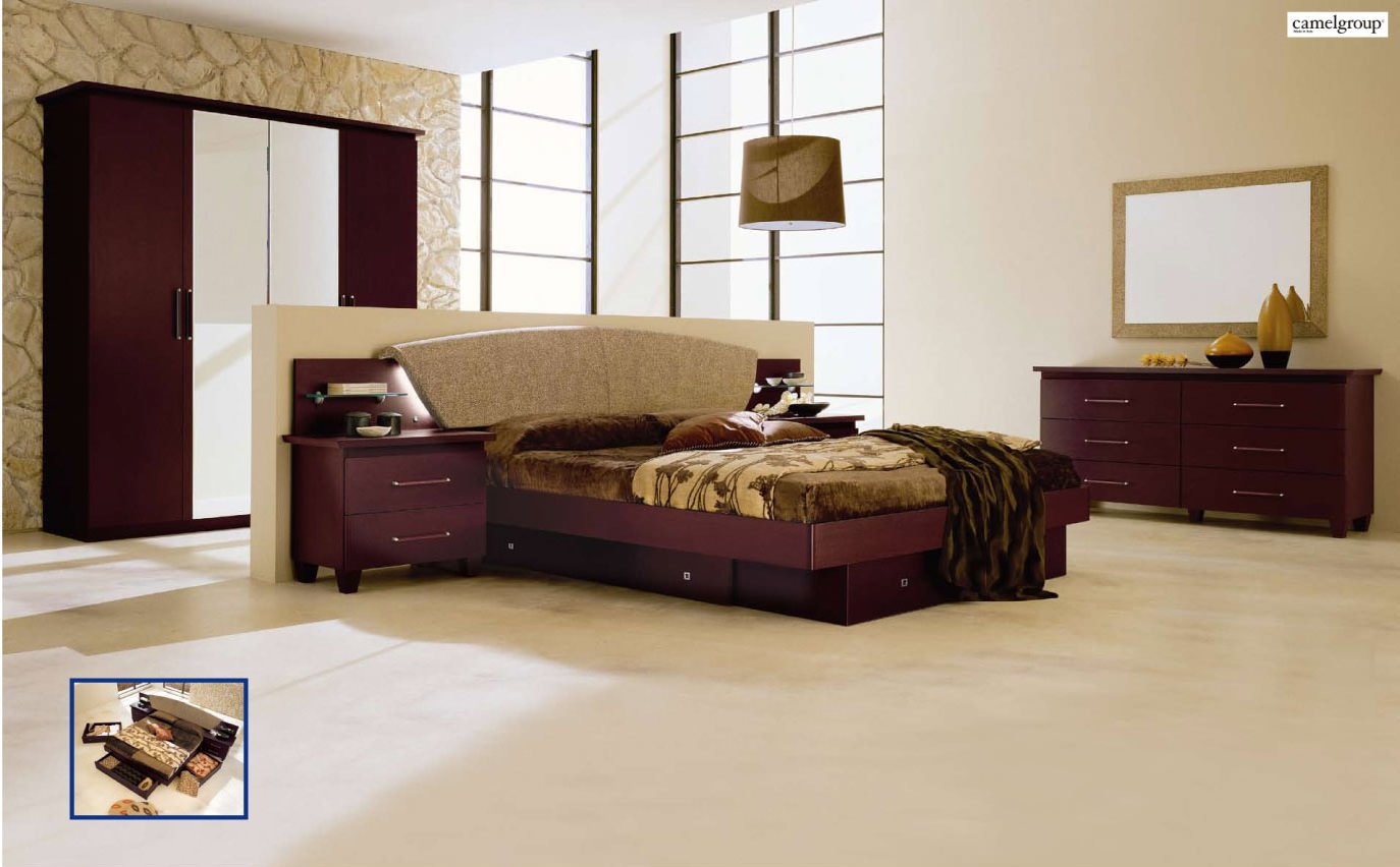 miss italia composition 3 camel bedroom set by esf