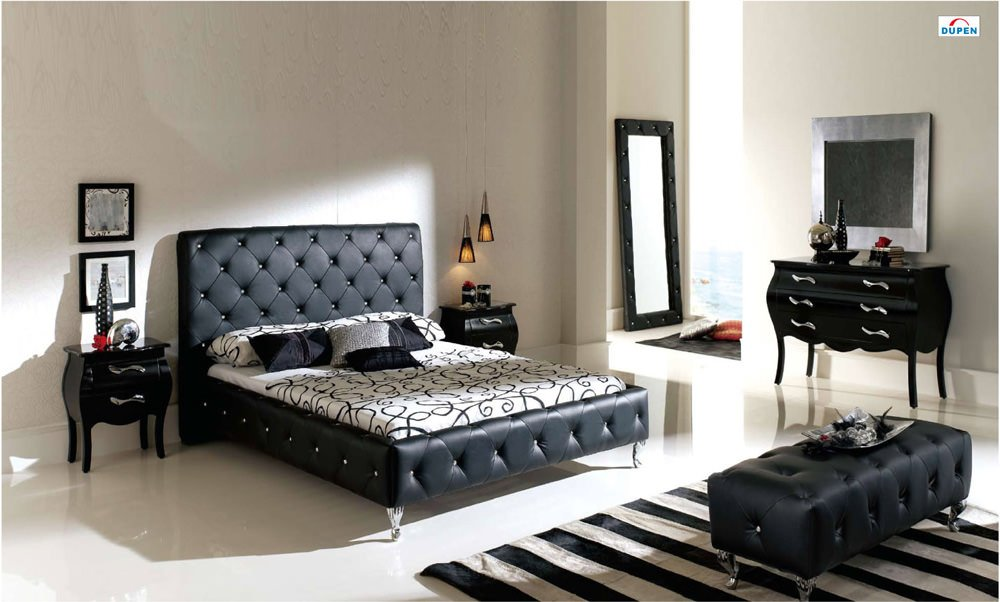 621 Nelly Black Dupen Bedroom Set By Esf