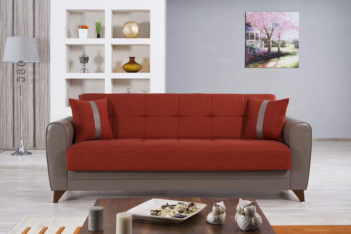 Magnificent Bella Vista Prusa Orange Convertible Sofa Bed By Casamode Download Free Architecture Designs Scobabritishbridgeorg