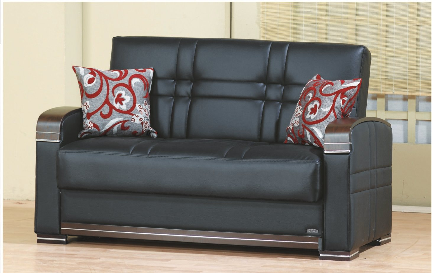 Magnificent Bronx Black Leather Loveseat By Empire Furniture Usa Gamerscity Chair Design For Home Gamerscityorg