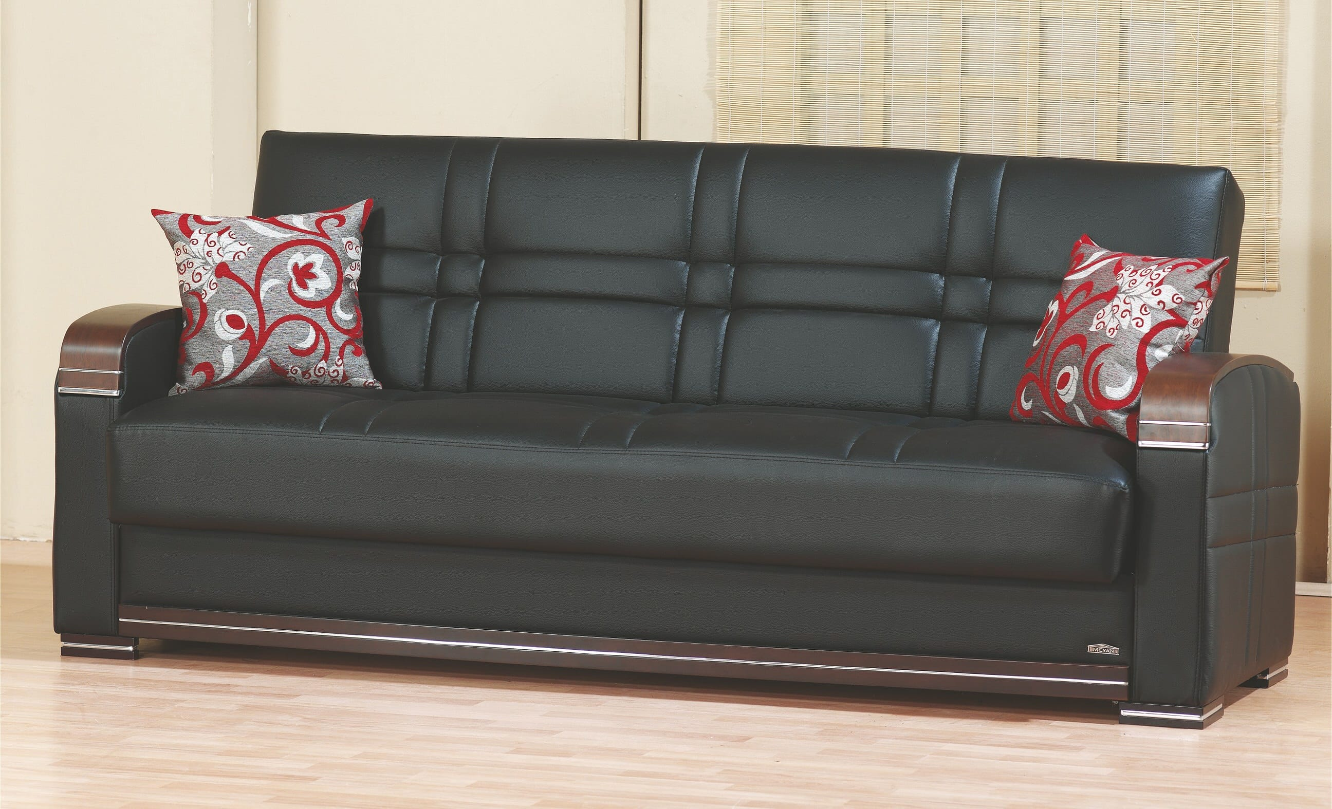 Tremendous Bronx Black Leather Sofa Bed By Empire Furniture Usa Ocoug Best Dining Table And Chair Ideas Images Ocougorg