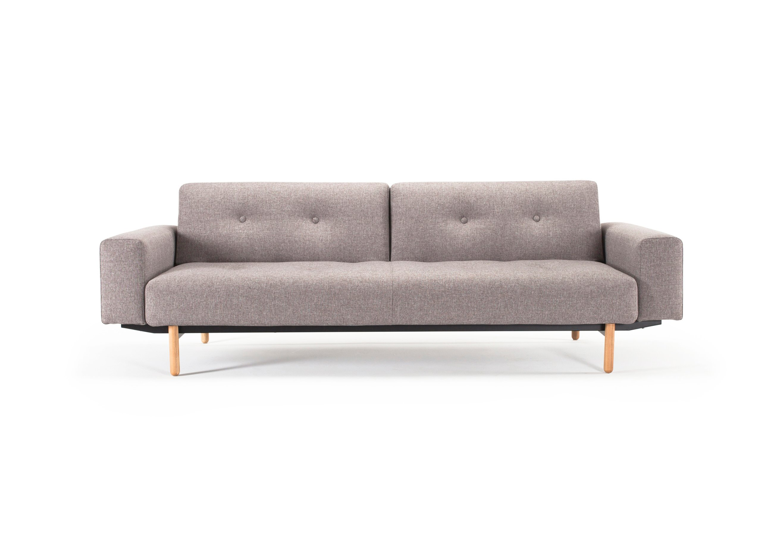 Buri Sofa Bed w Arms Mixed Dance Gray by Innovation
