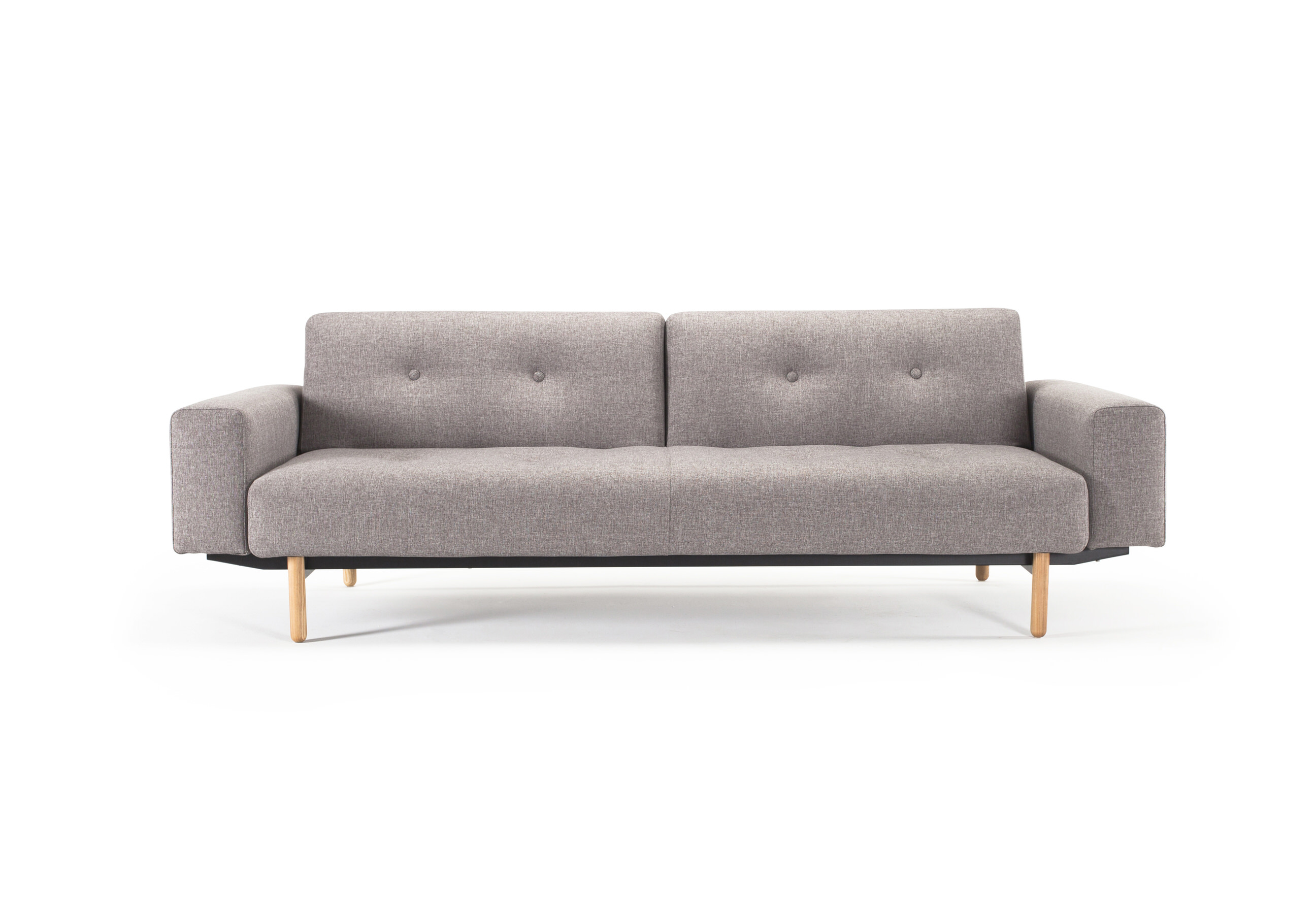 Buri sofa bed w arms mixed dance gray by innovation for One armed couch name