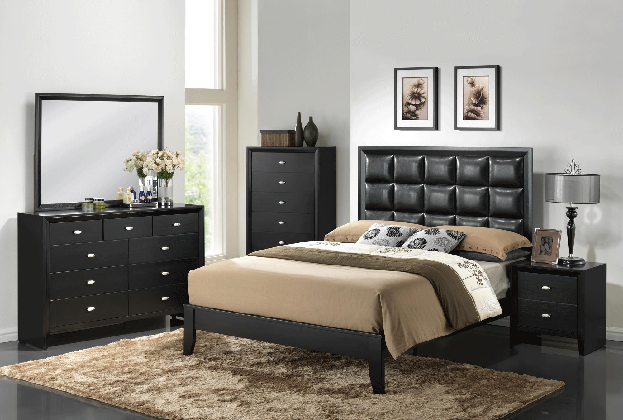 Carolina Black Bedroom Set by Global Furniture