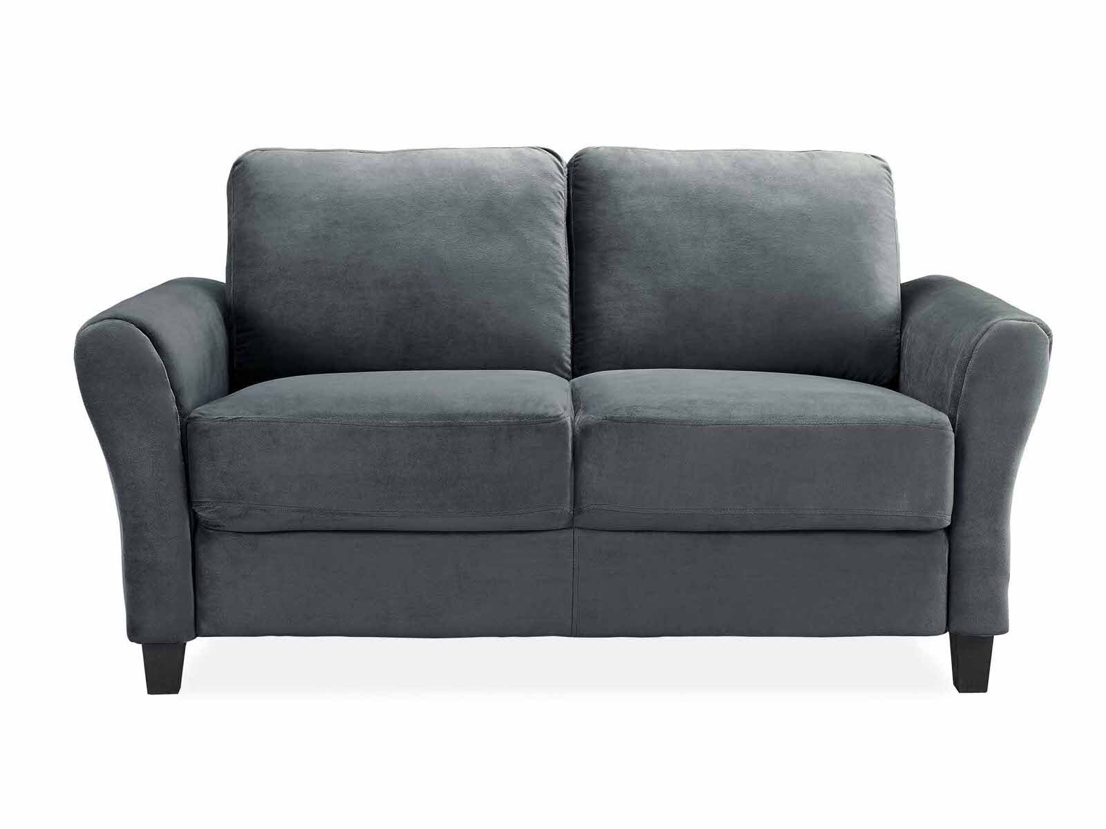 Westin Dark Grey Loveseat With Rolled Arm By Lifestyle