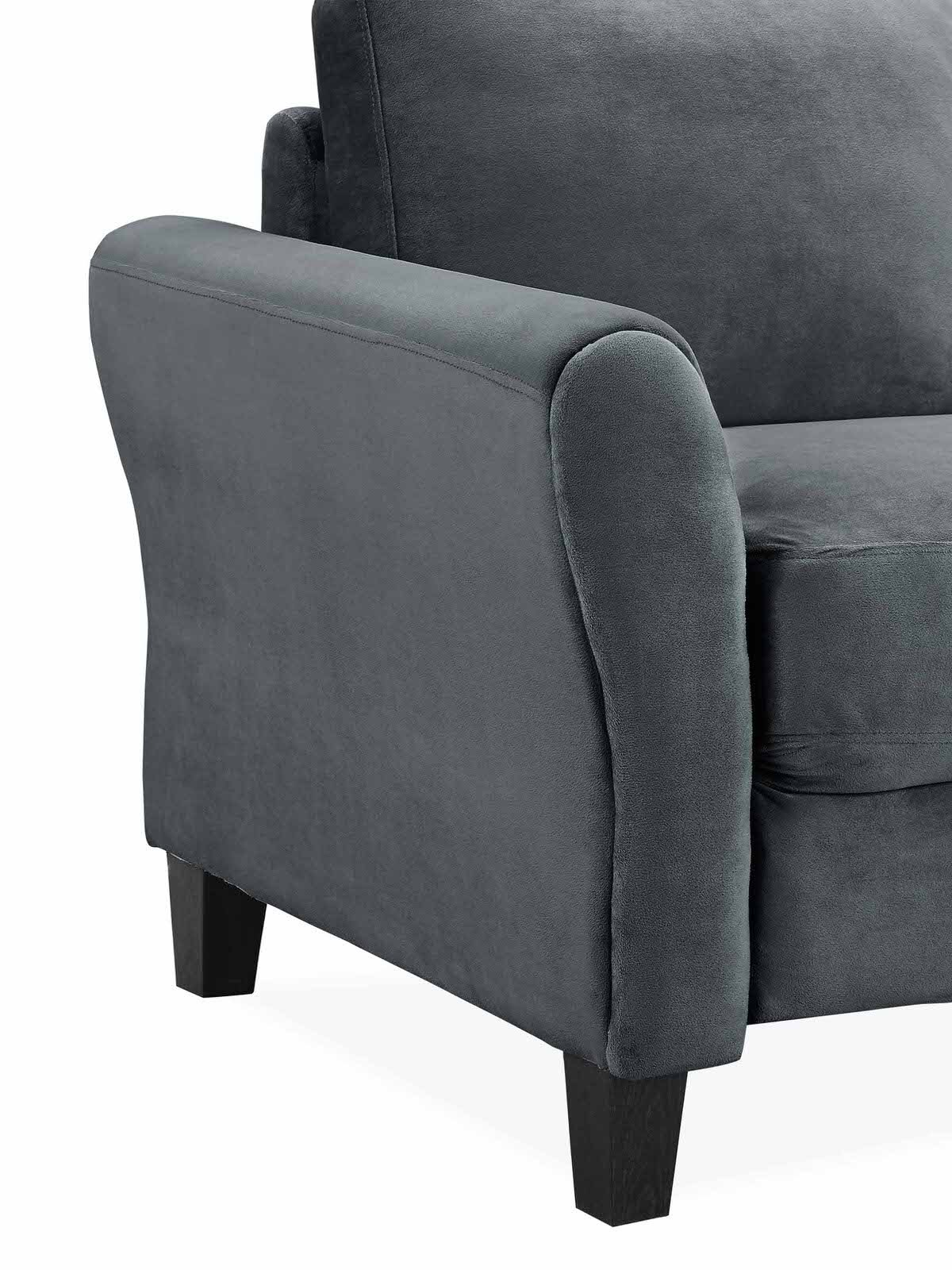 Westin Dark Grey Sofa With Rolled Arm By Lifestyle