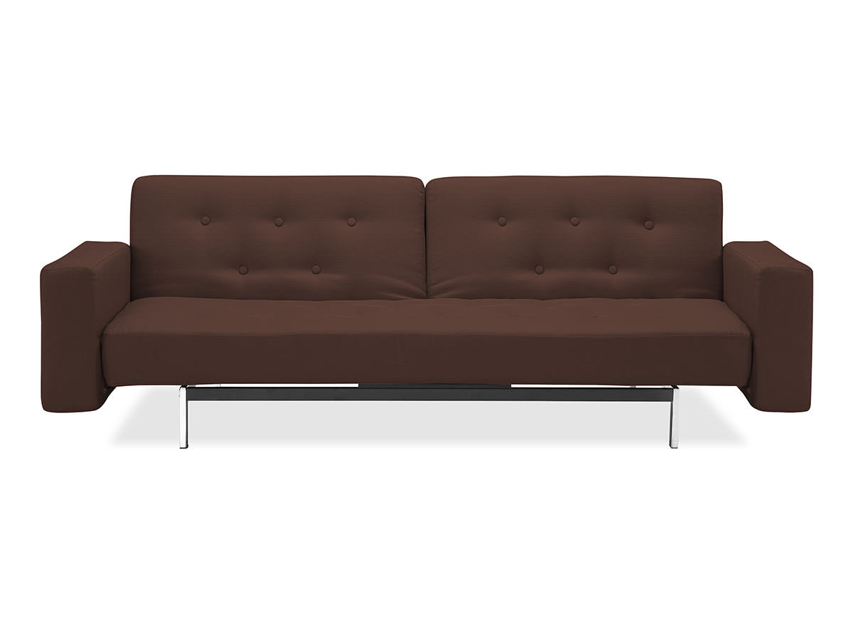 Comet Convertible Sofa Dark Brown By Serta Lifestyle