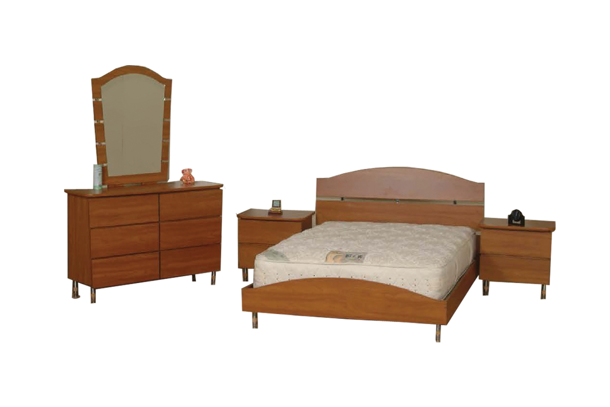M 17 Brown Wooden Bedroom Set By Central Furniture Factory