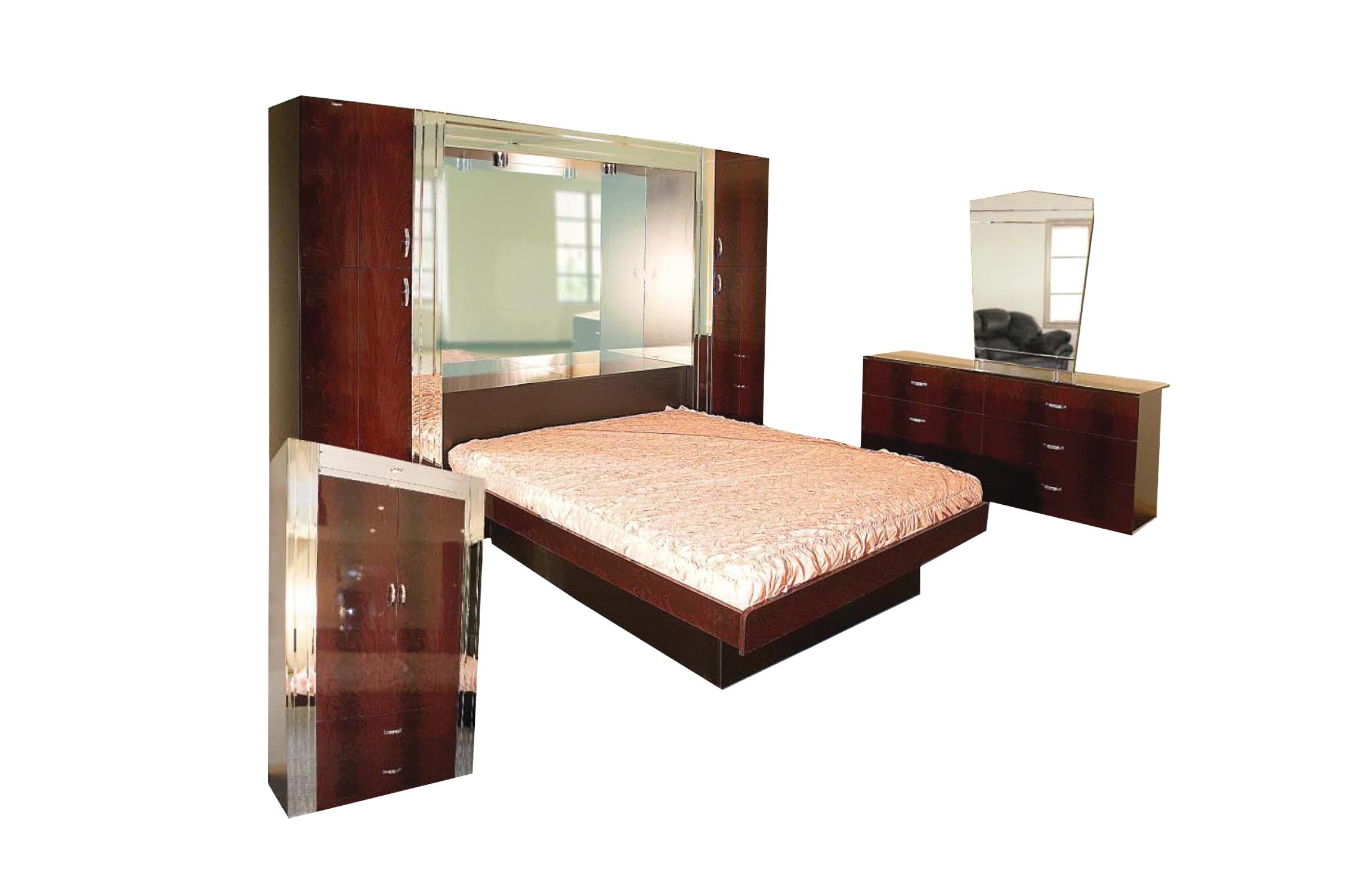Sara Dark Brown Wooden Bedroom Set by Central Furniture Factory