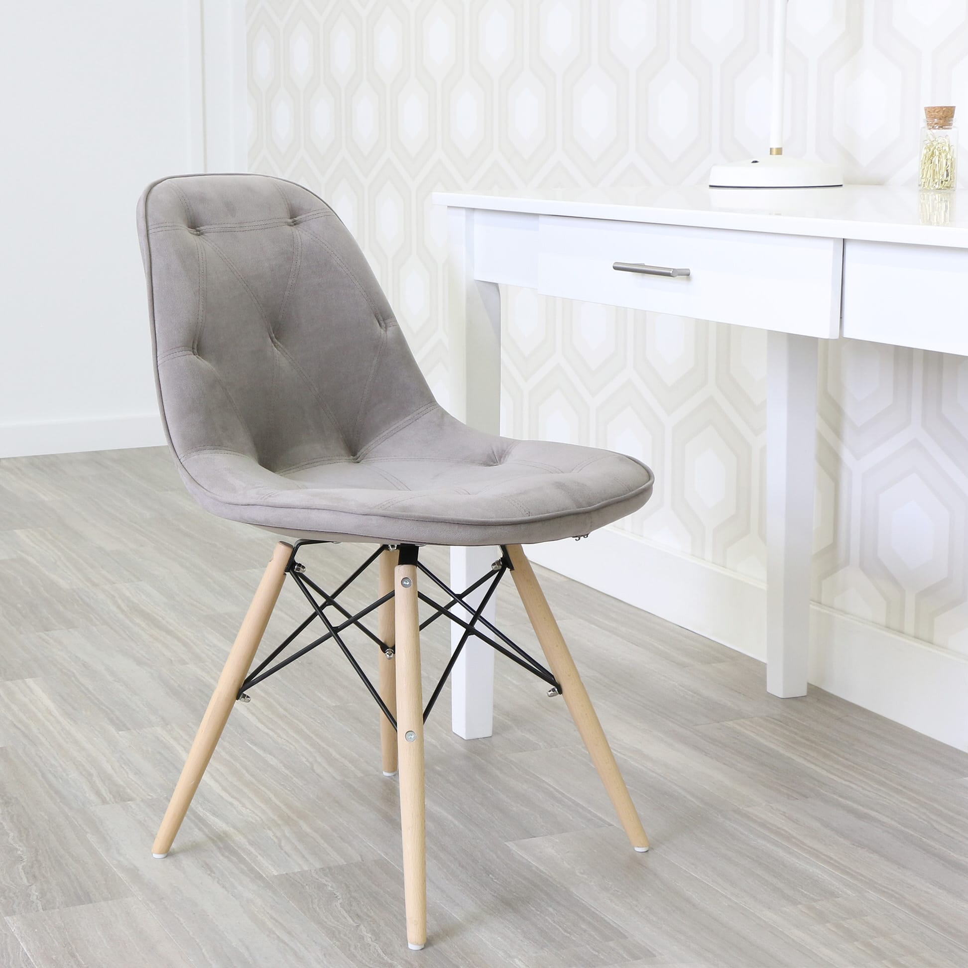 Upholstered Eames Dining Chairs Set Of 2 By Walker Edison
