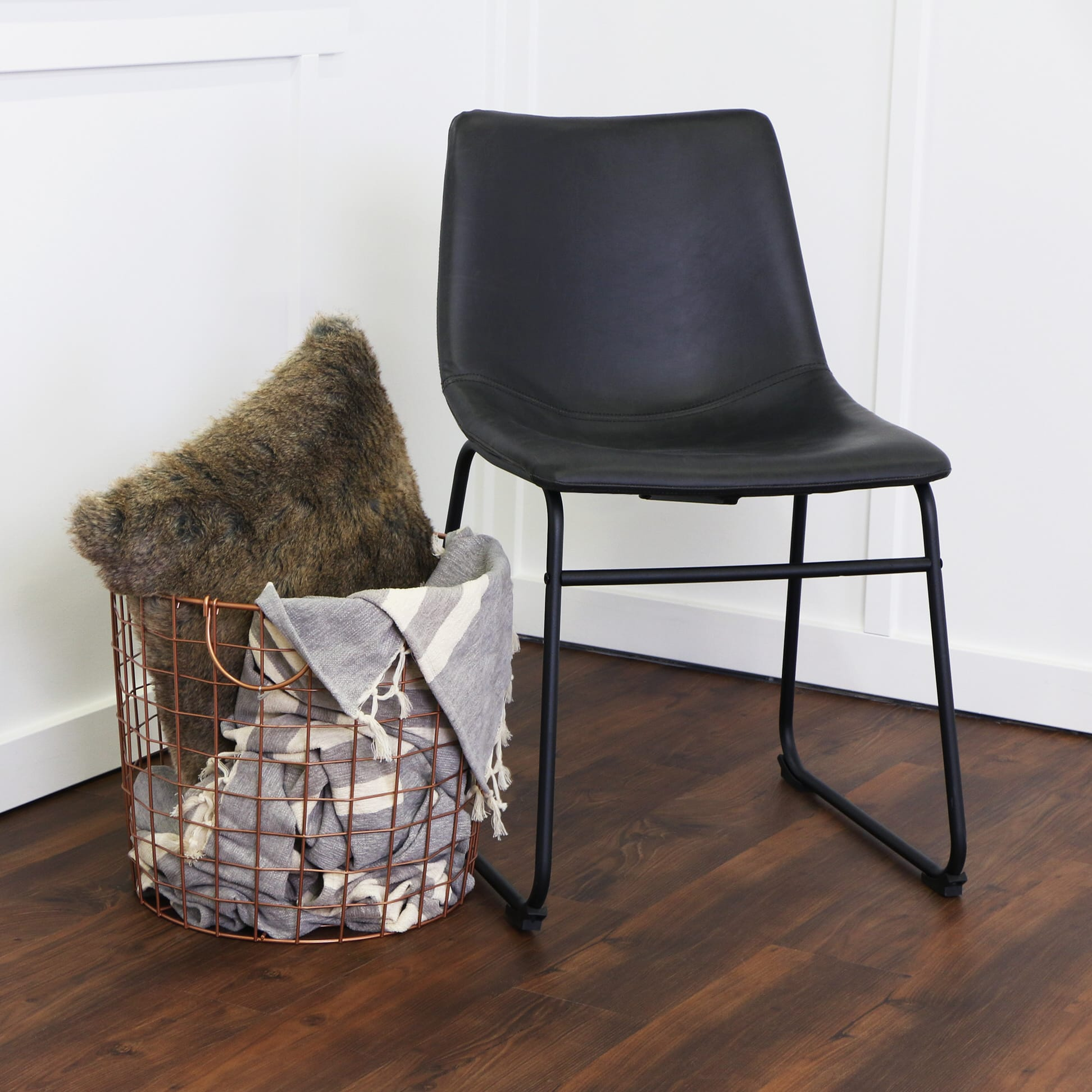 black faux leather dining chairs mikemie
