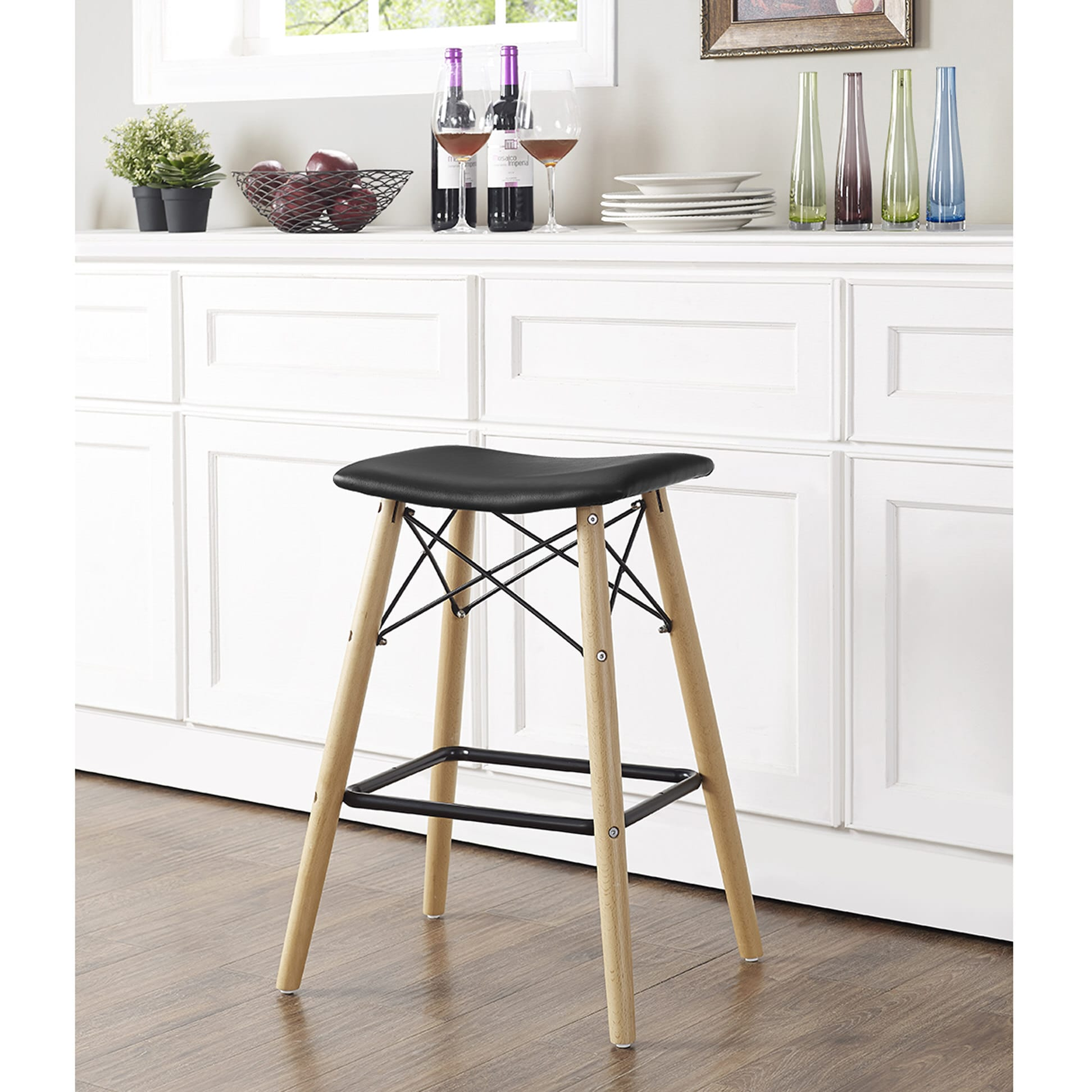 Peachy Retro Modern Counter Stool Black By Walker Edison Ocoug Best Dining Table And Chair Ideas Images Ocougorg