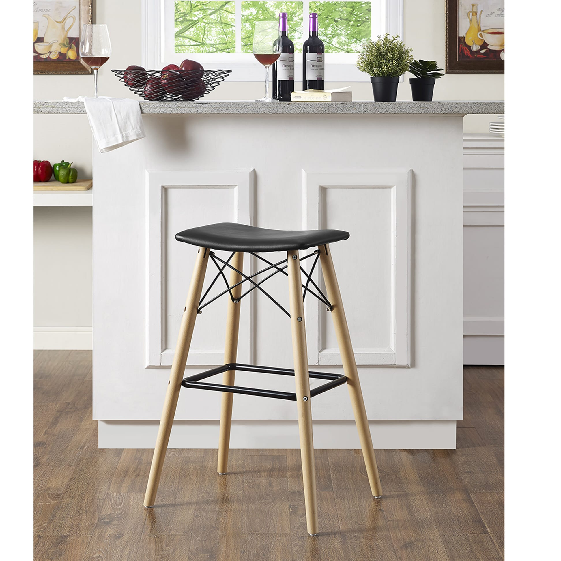 Astonishing Retro Modern Bar Stool Black By Walker Edison Ocoug Best Dining Table And Chair Ideas Images Ocougorg