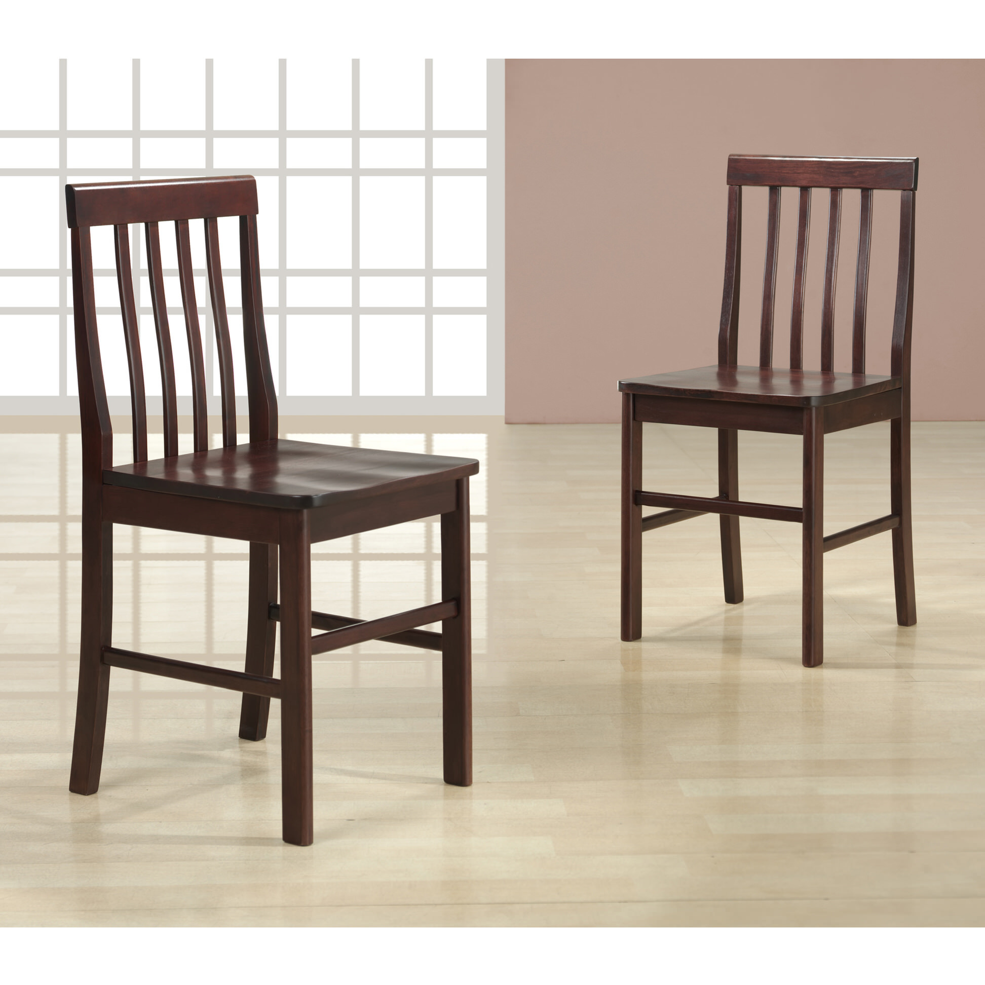 Espresso Wood Dining Chairs (Set Of 2) By Walker Edison