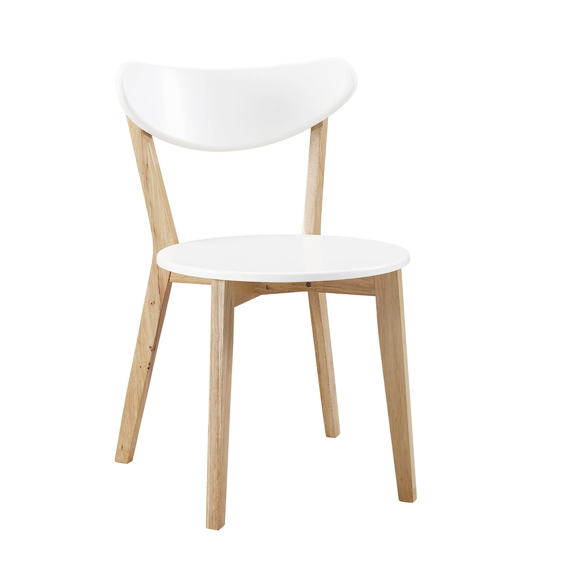 Retro Modern Wood Dining Chairs (Set Of 2) By Walker Edison