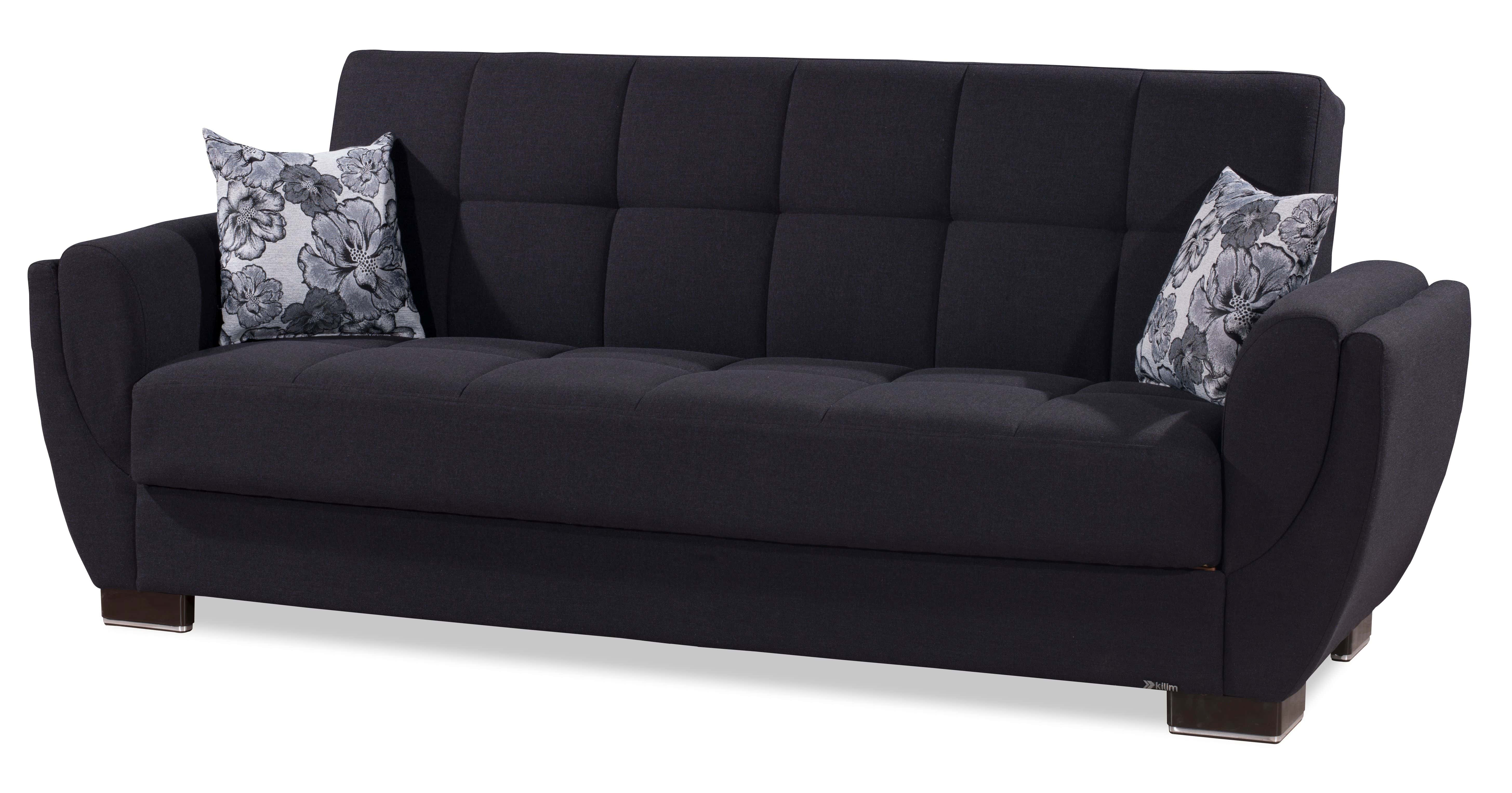 Picture of: Armada Air Dark Blue Sofa Bed By Casamode