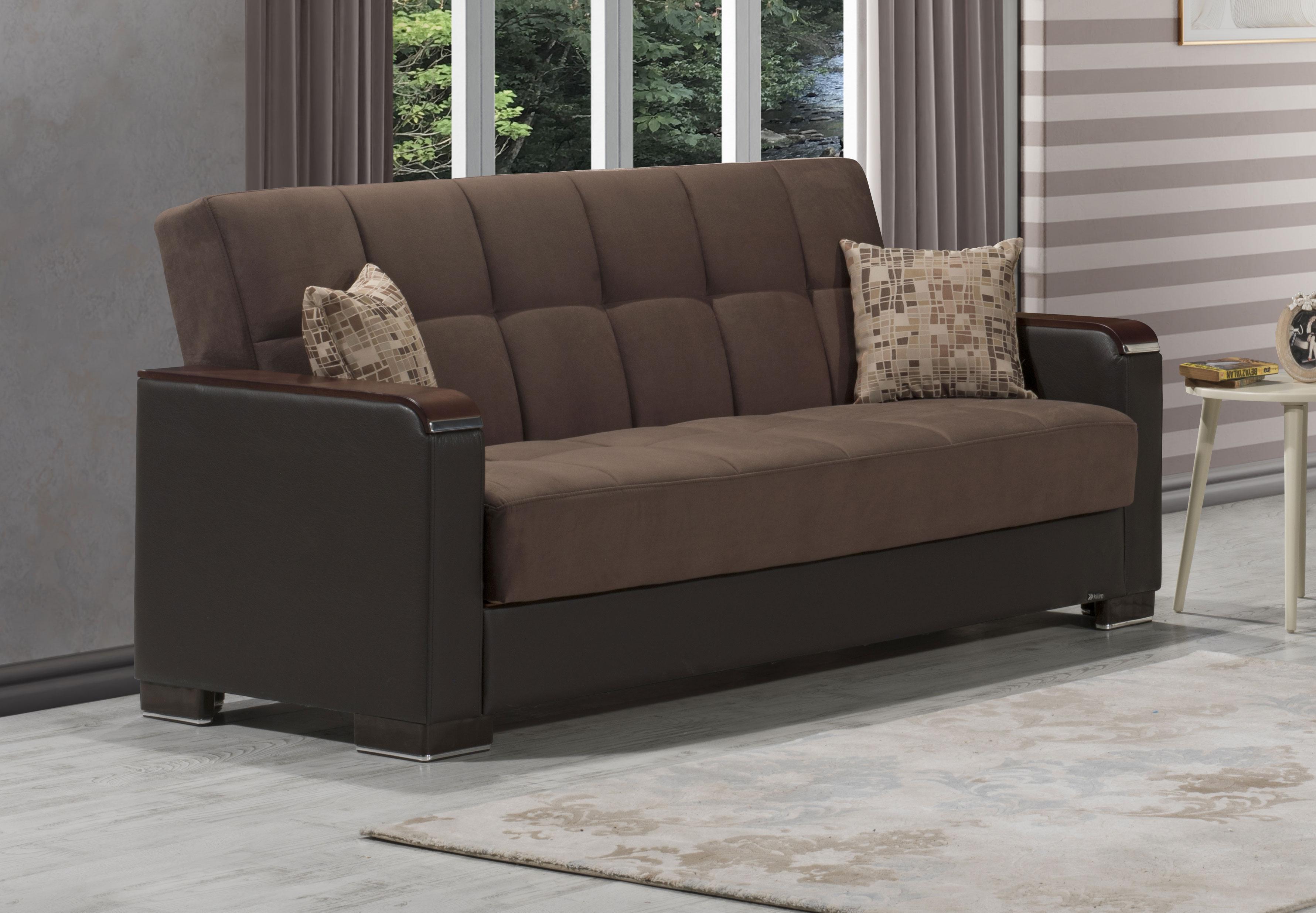 Armada X Brown Microfiber Sofa Bed By Casamode