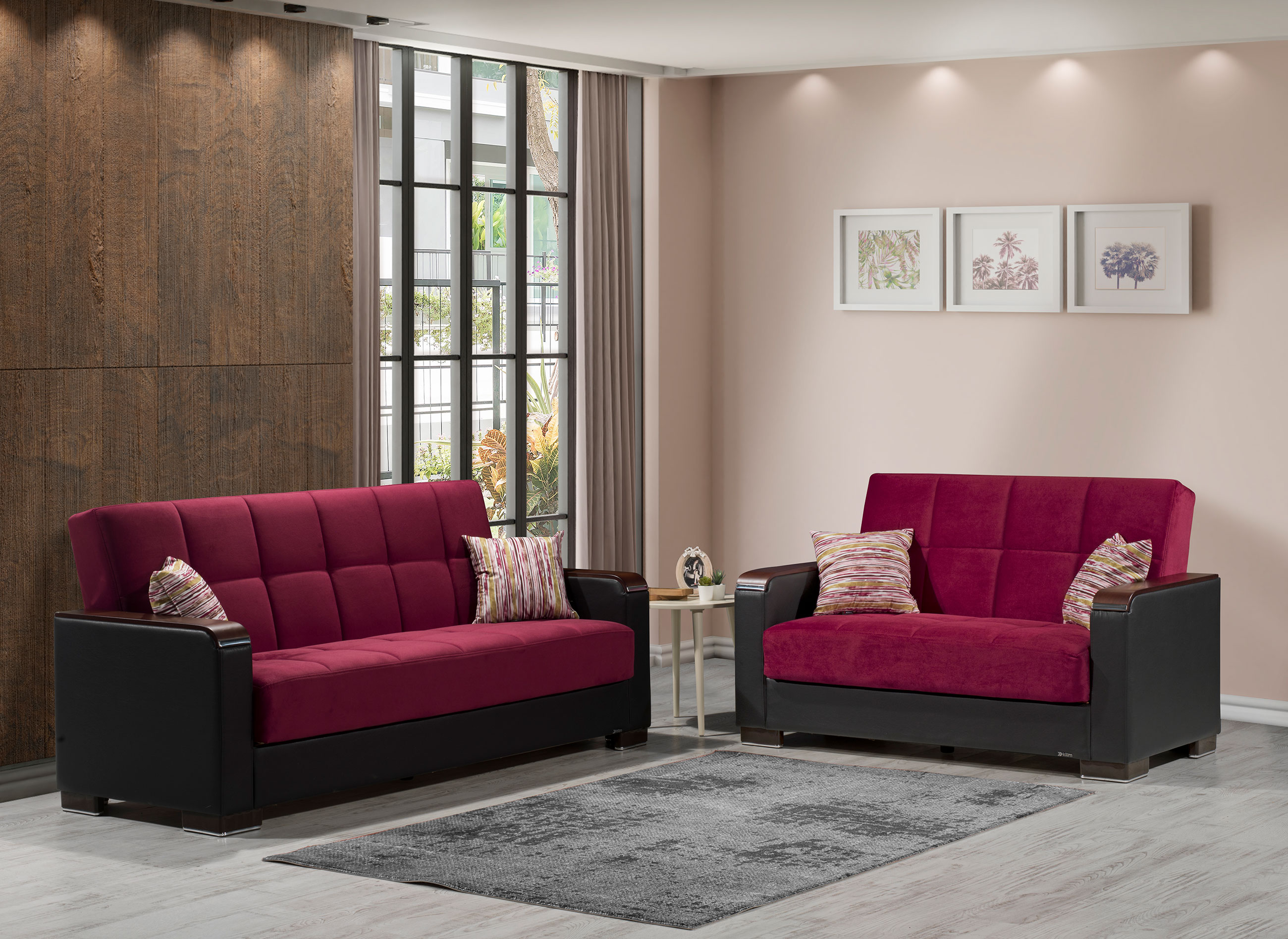Armada X Burgundy Sofa Bed by Casamode