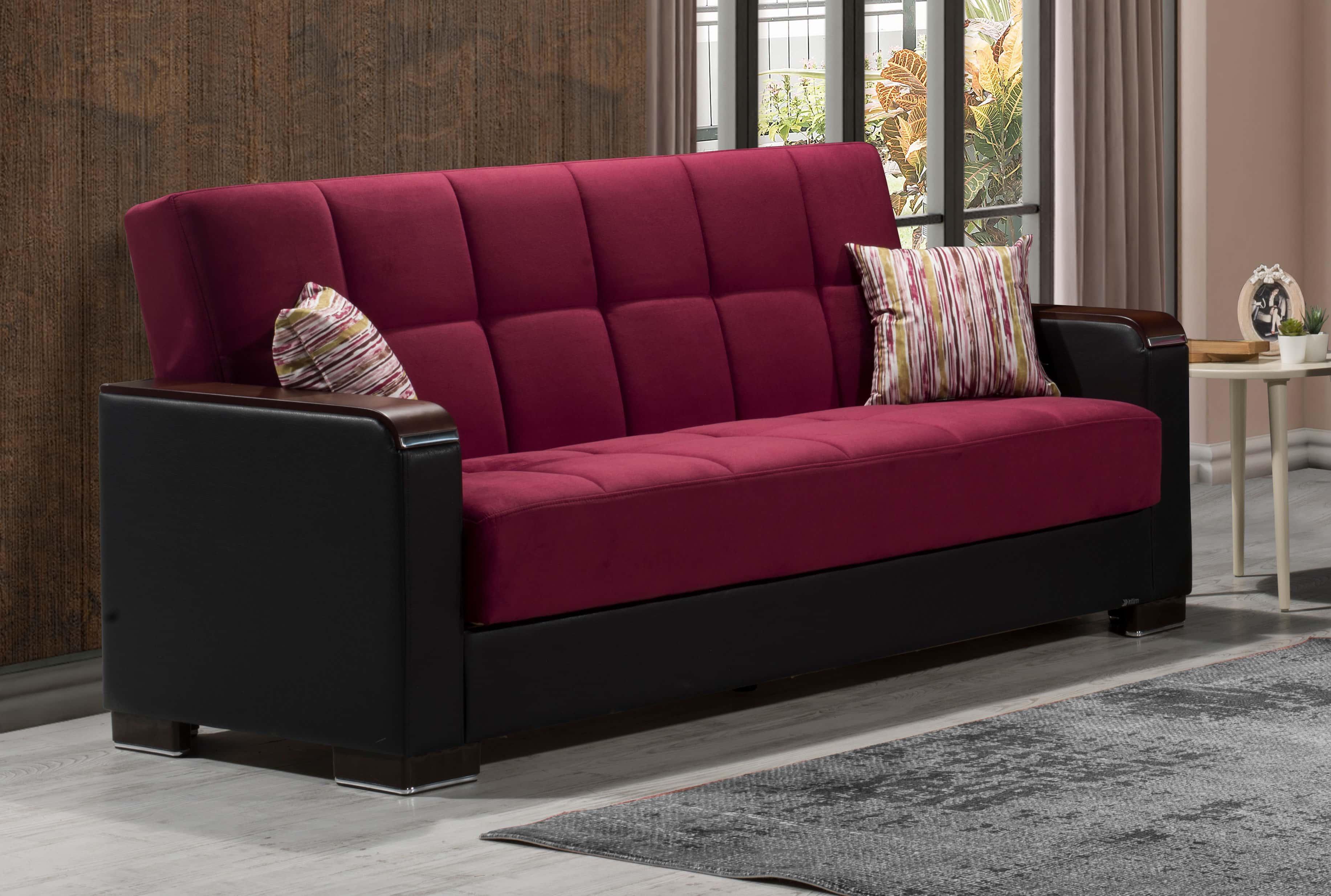 Fantastic Armada X Burgundy Sofa Bed By Casamode Ibusinesslaw Wood Chair Design Ideas Ibusinesslaworg