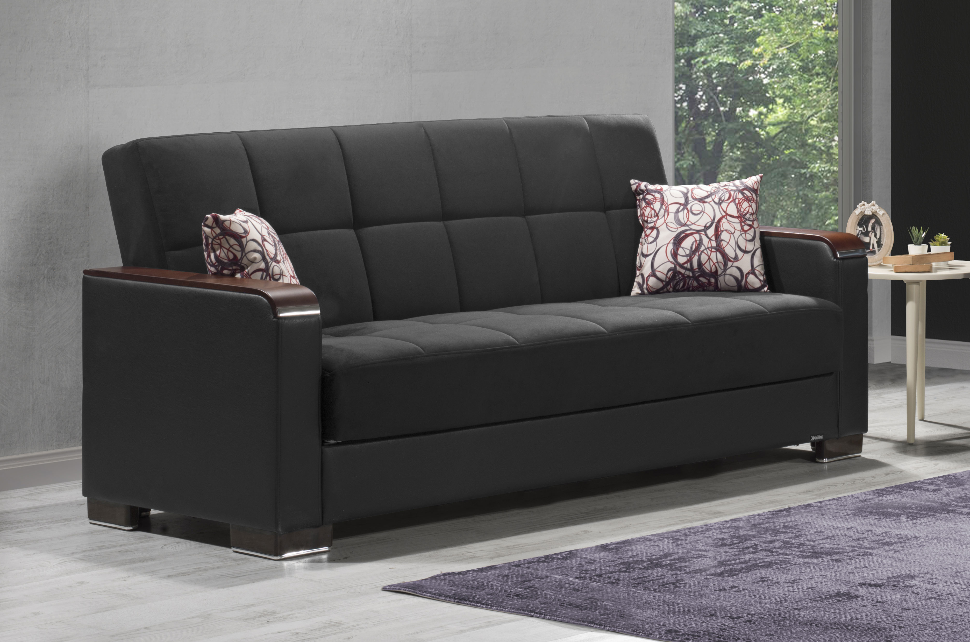 Picture of: Armada X Black Sofa Bed By Casamode