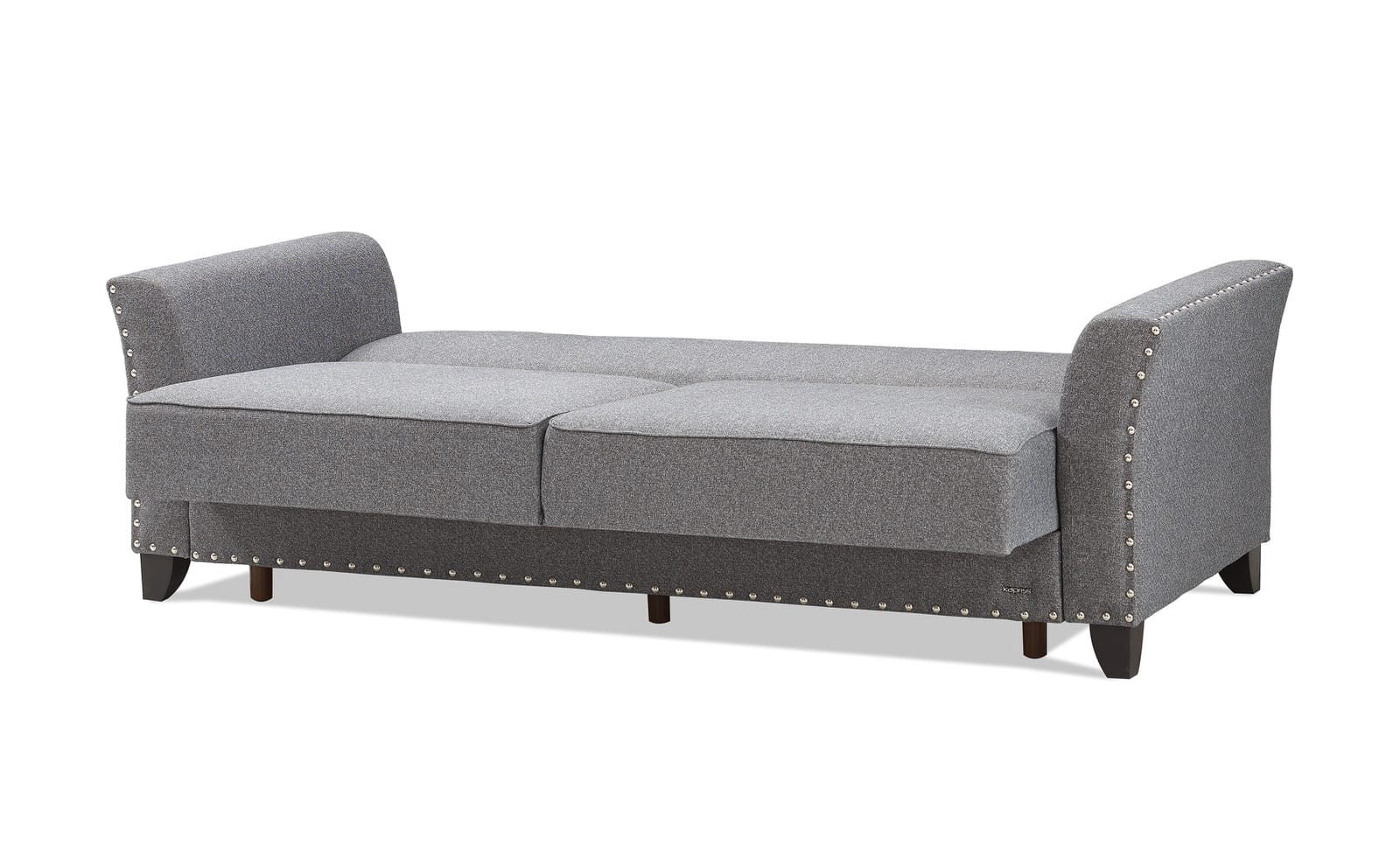 Ashley Gray Chenille Convertible Loveseat by Casamode