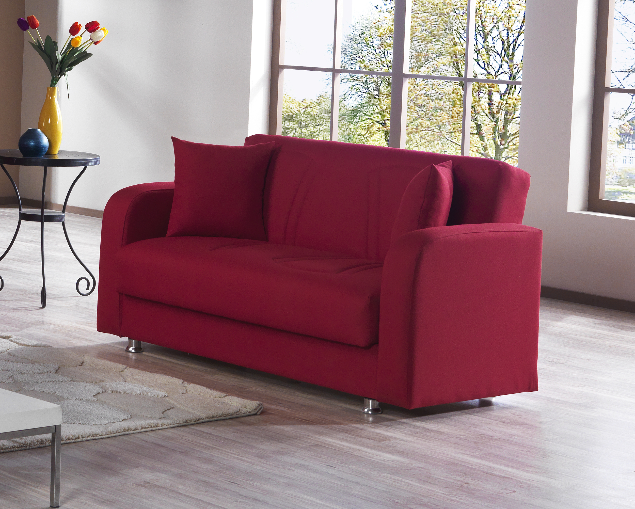 promo code 6ae3a 42499 Joker Red Convertible Loveseat by Casamode