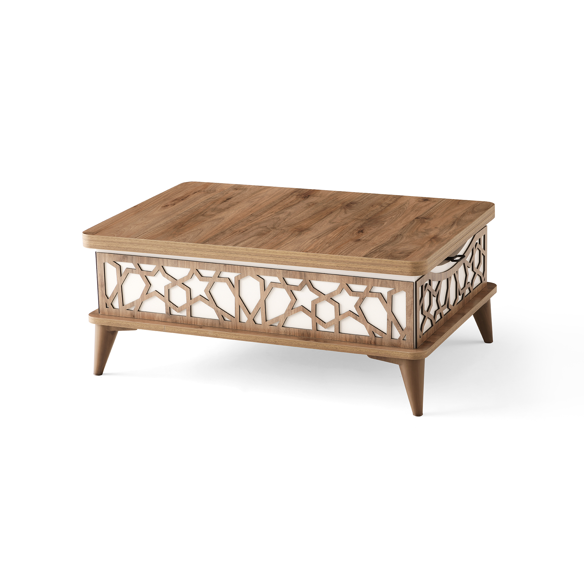 Magic Neutral White Wood Coffee Table By Casamode