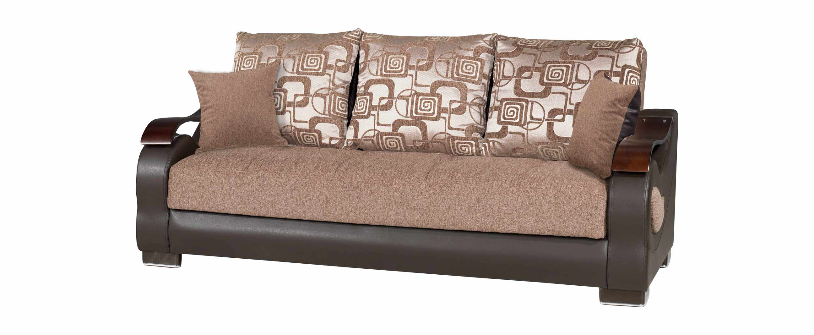 Metroplex Brown Chenille Sofa Bed by Casamode