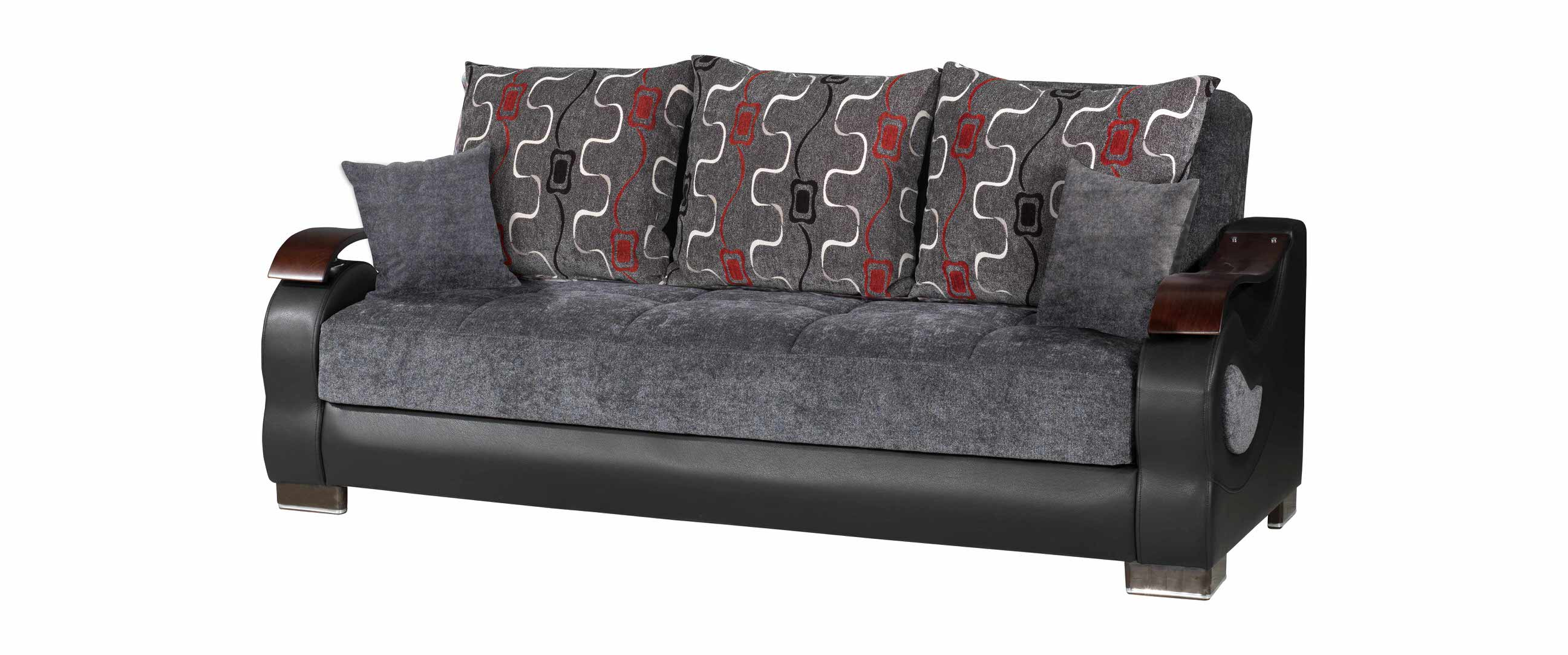 Metroplex Gray Chenille Sofa Bed by Casamode