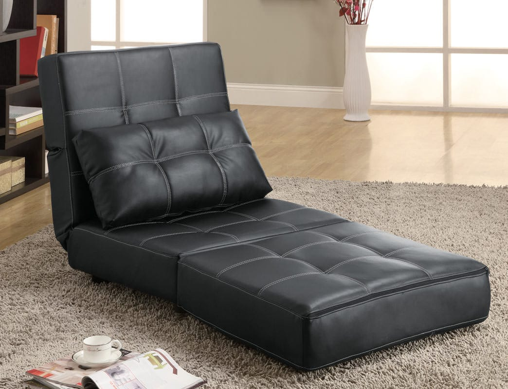300173 lounge chair sofa bed by coaster for Sofa bed chair