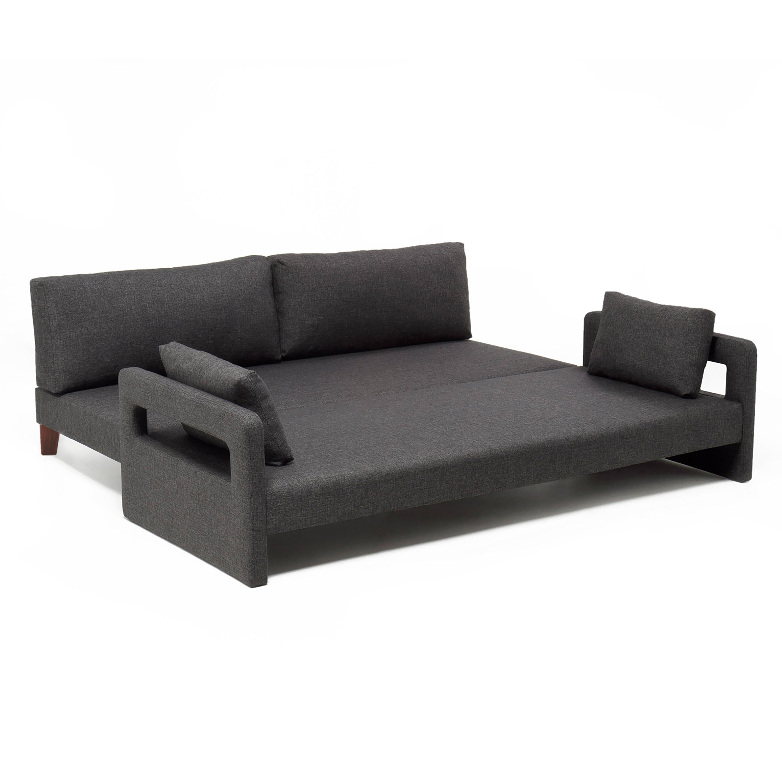 fort Gray Fabric Sofa Bed by Empire Furniture USA
