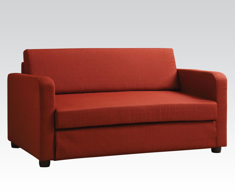 Conall Red Sofa Bed by Acme