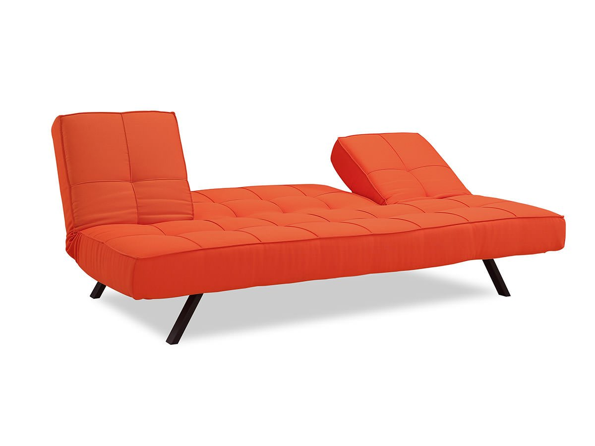 Copa Convertible Sofa Tangerine By Serta Lifestyle