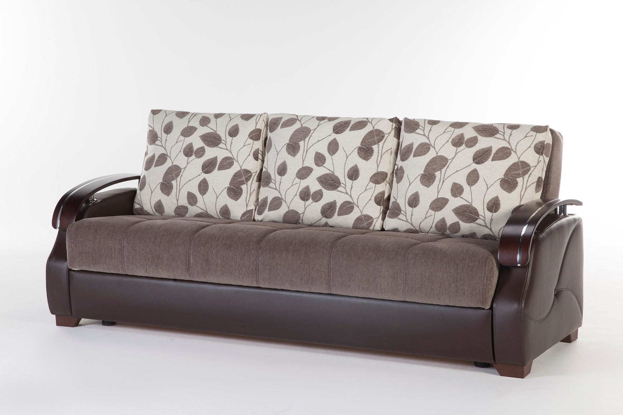Costa Armoni Brown Convertible Sofa Bed by Istikbal Furniture