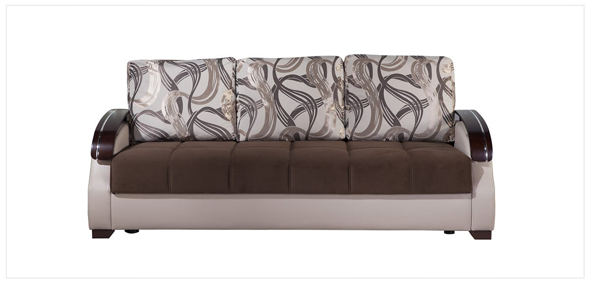 Costa Best Brown Convertible Sofa Bed by Istikbal Furniture
