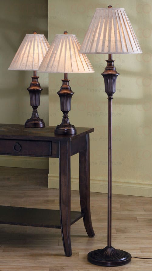 901147 Floor And 2 Table Lamps Set By Coaster