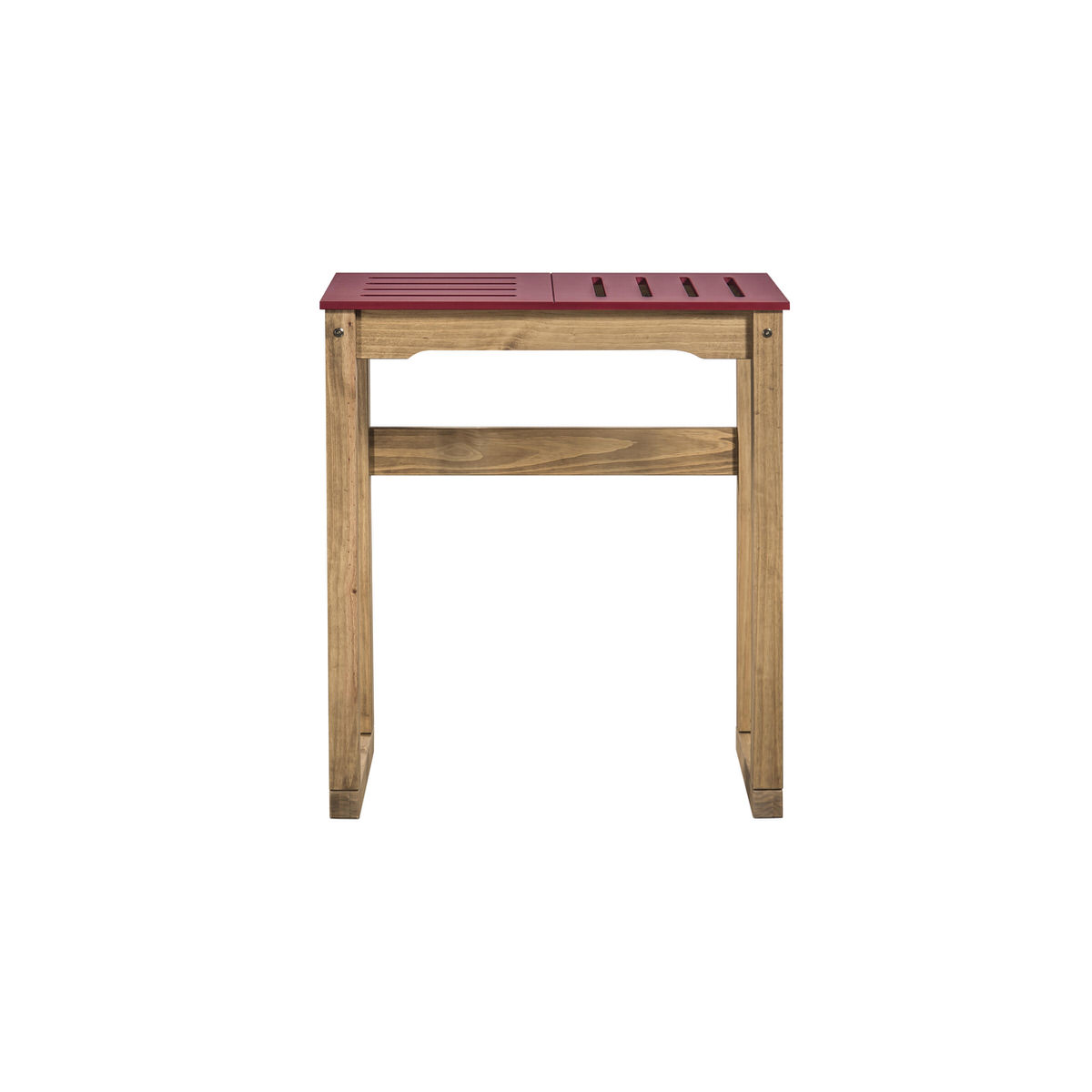Stillwell mid century modern 31 5 inch red natural wood bar table by manhattan comfort