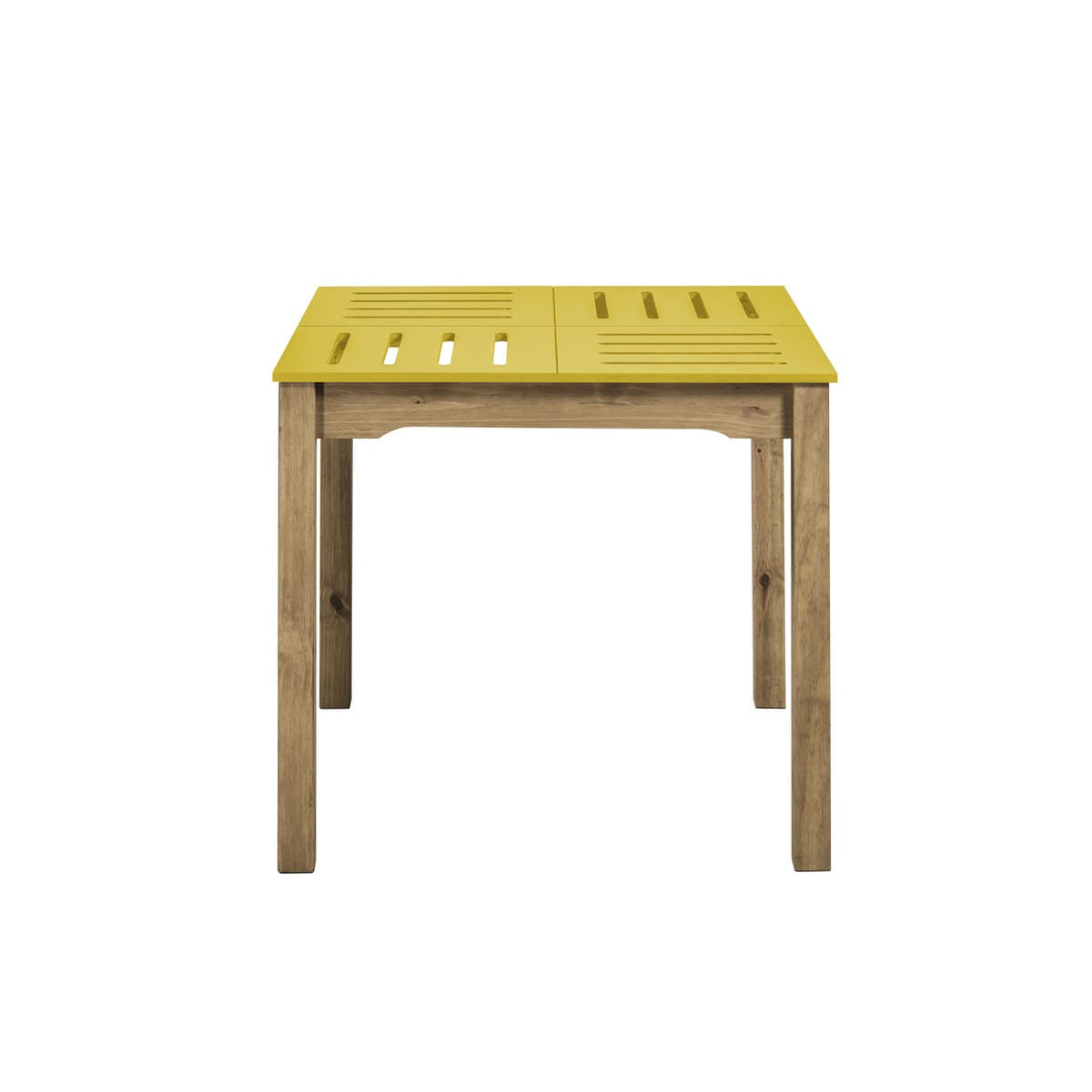 Stillwell Mid Century Modern 31 5 Inch Yellow Natural Wood Square