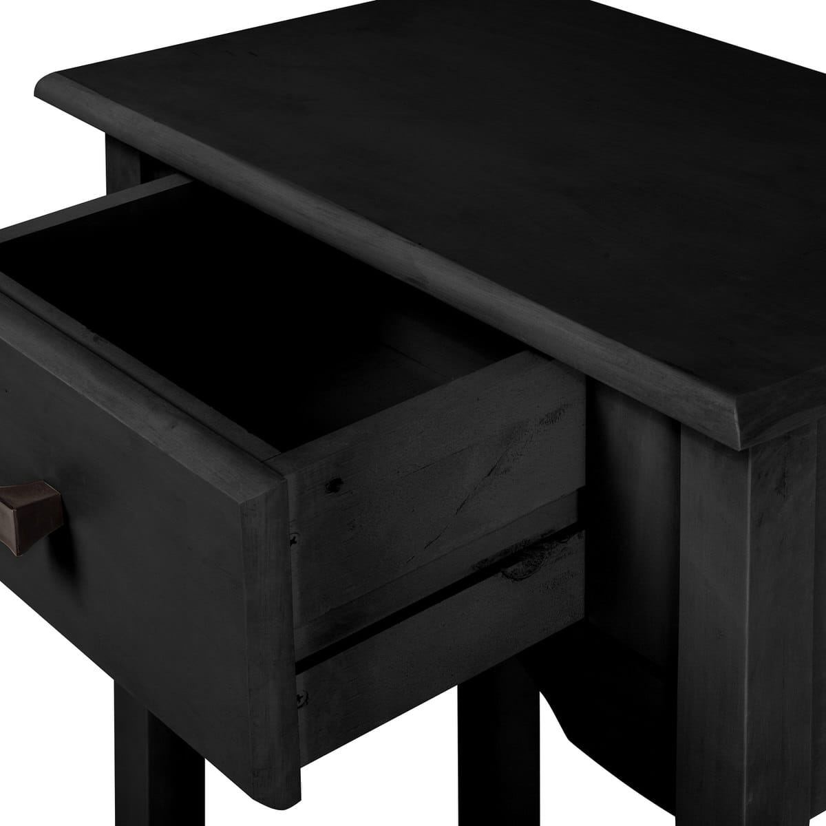 Jay Black Wash 3543 Inch Tall End Table W 1 Full Extension Drawer