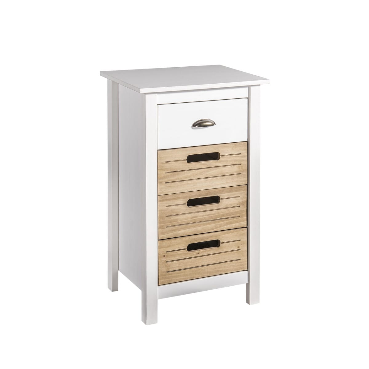 Irving Rustic Mid Century Modern 4 Drawer 3149 Inch White Natural