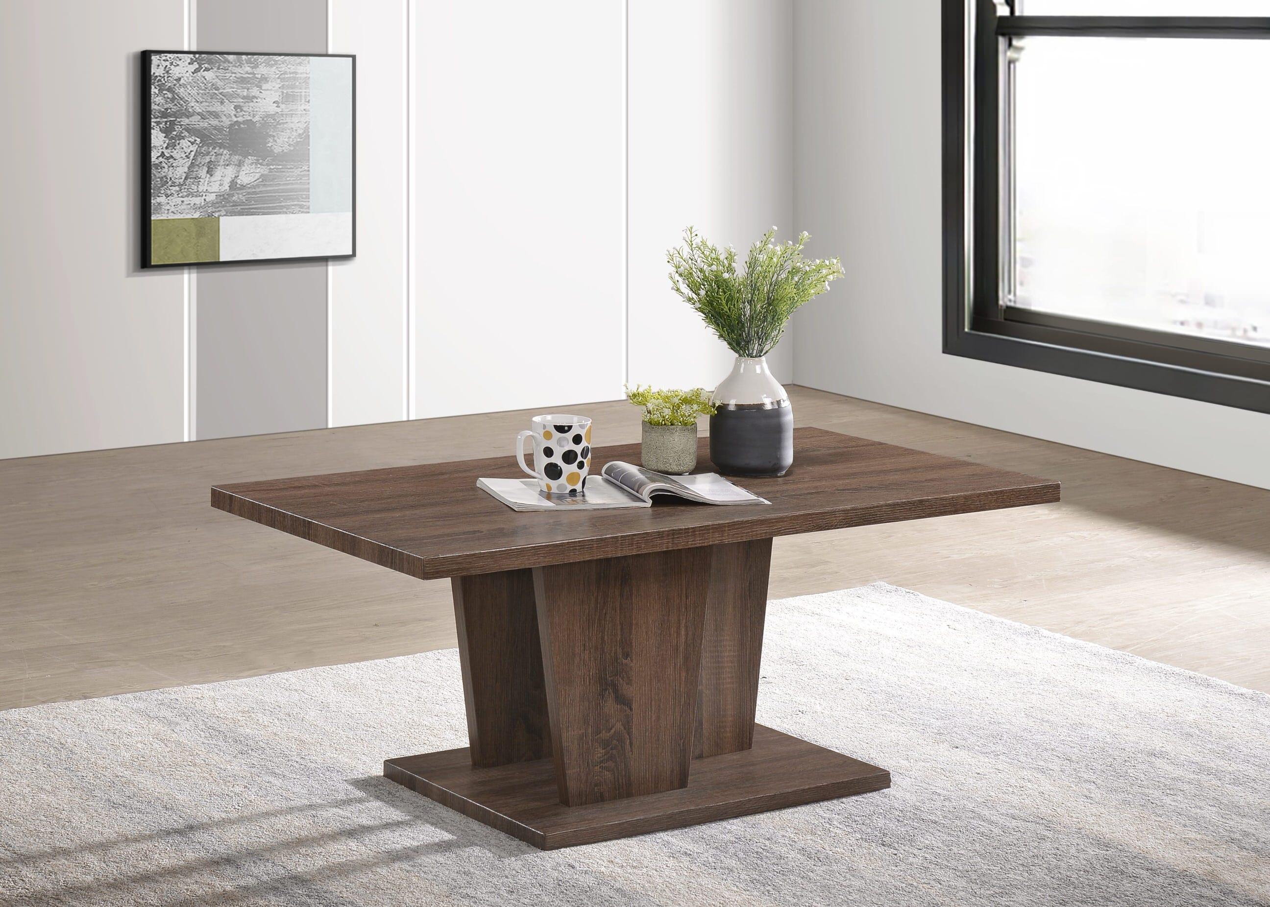 Maya Coffee Table.Maya Dark Brown Wood Coffee Table By Casamode Functional Furniture