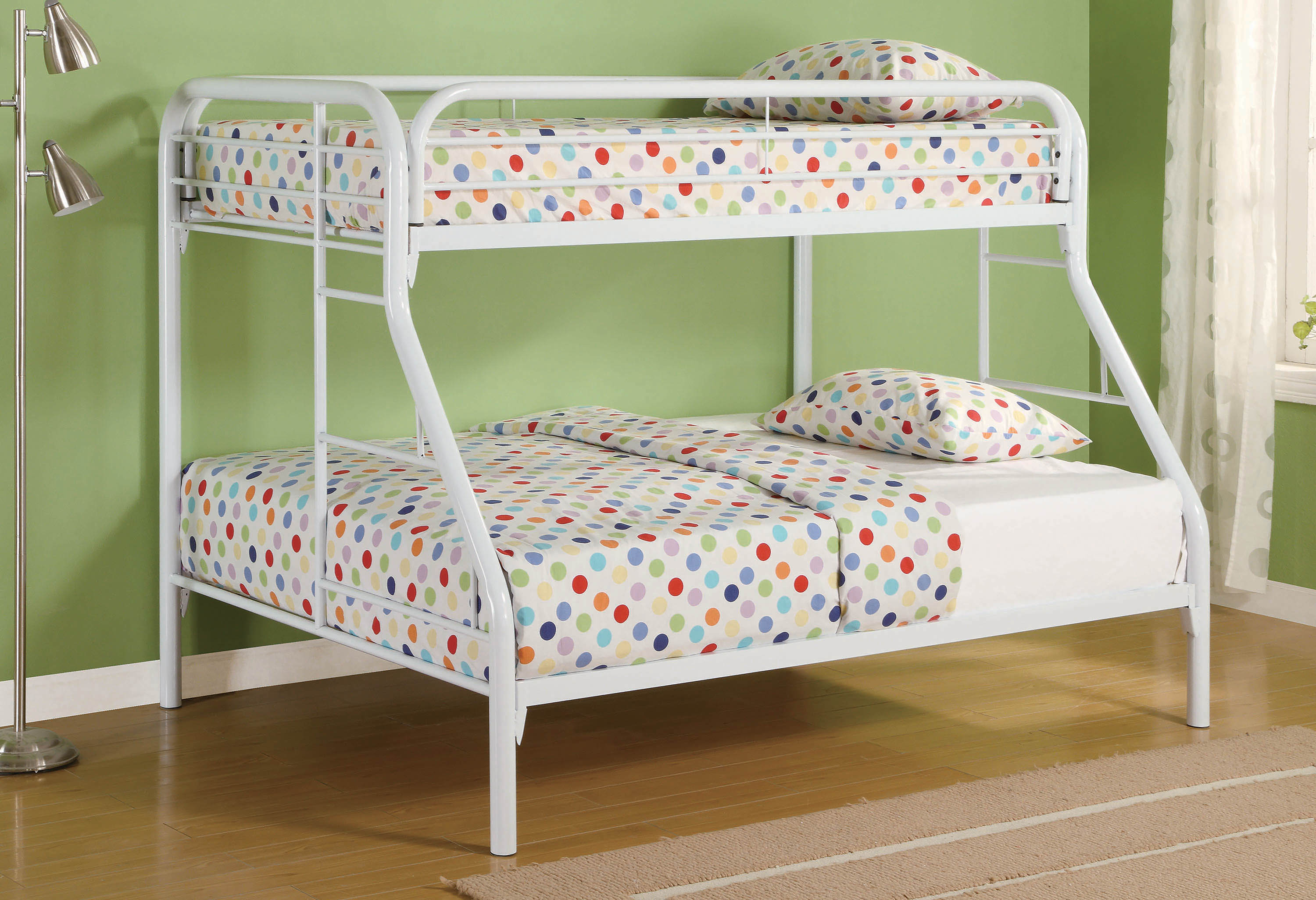 Image result for white metal bunk bed twin over full