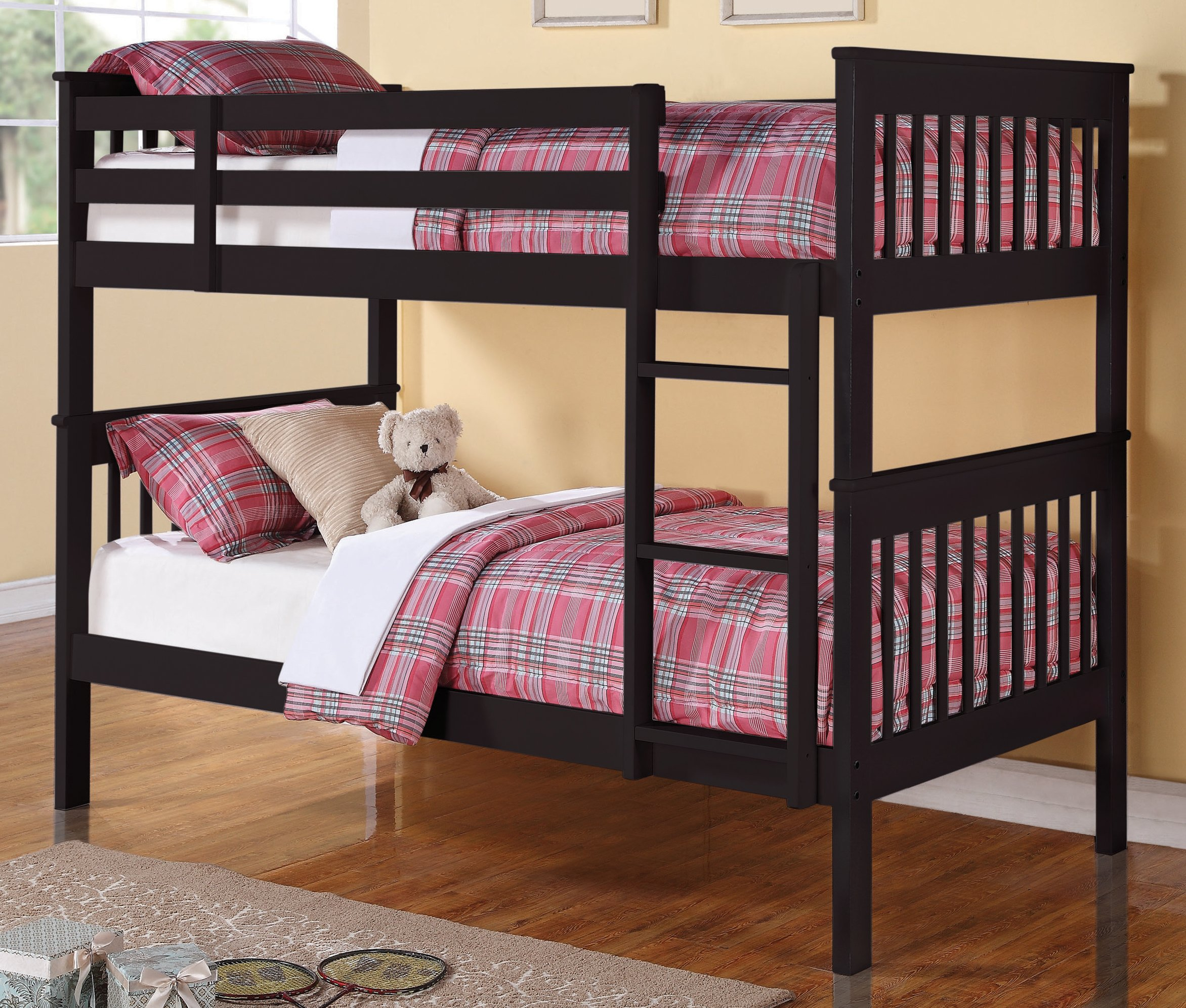 Chapman Black Twin Over Twin Bunk Bed By Coaster