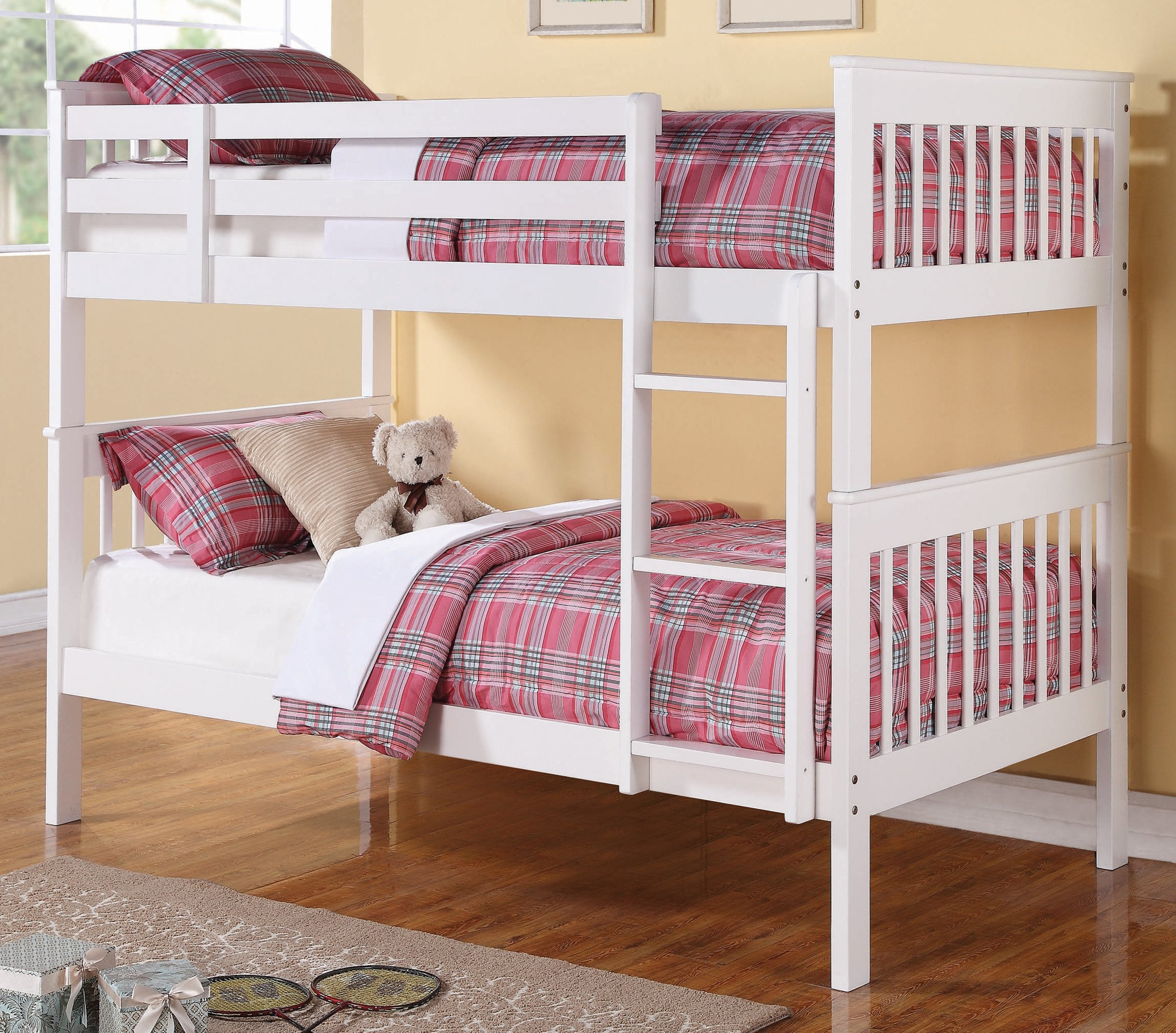 Chapman White Twin Over Twin Bunk Bed By Coaster